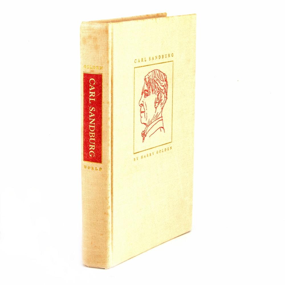 "Signed ""Carl Sandburg"" Biography by Harry Golden"
