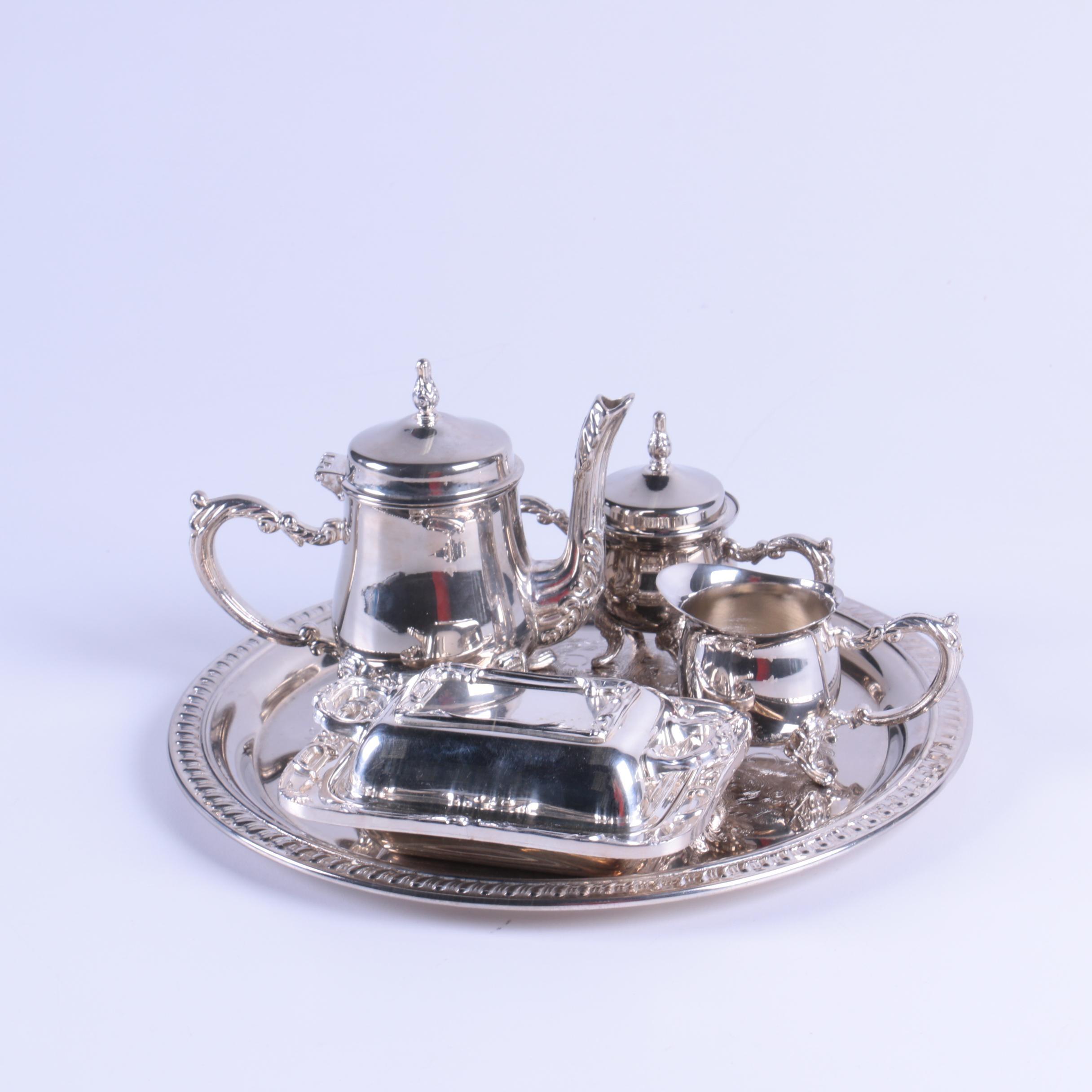 Godinger Silver Art Co. Silver Plate Tea Service