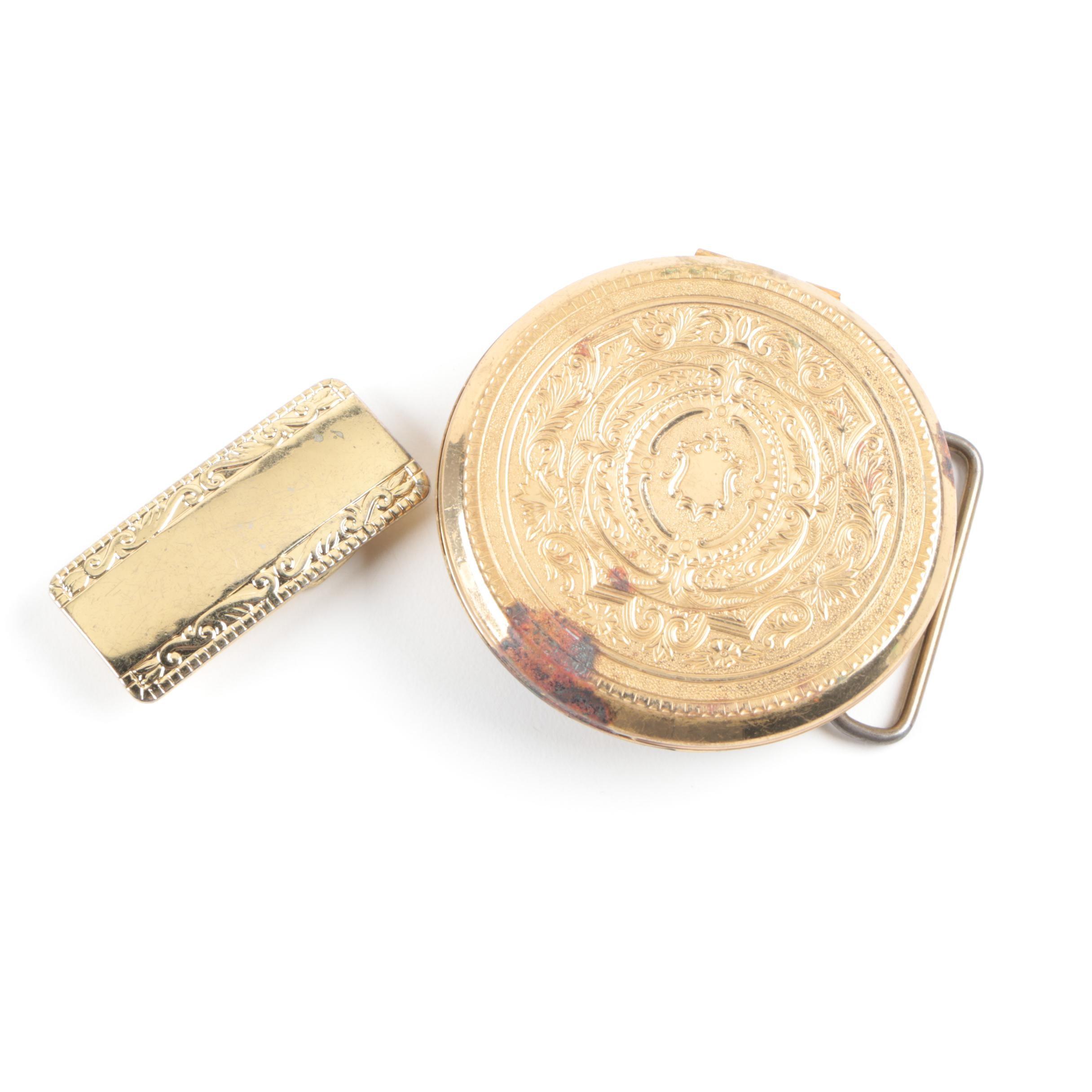 Vintage Gold Tone Belt Buckles