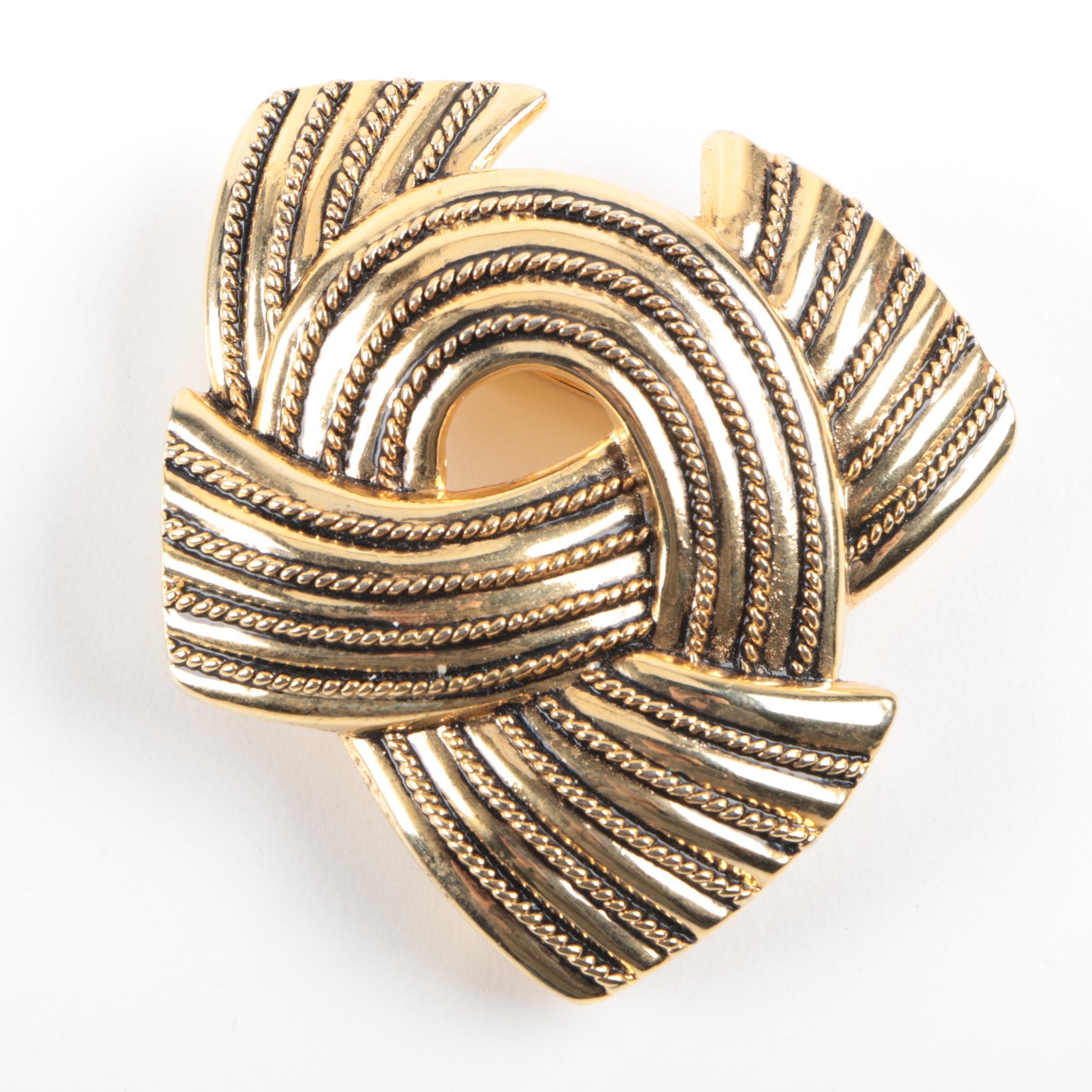 Gold Toned Metal Belt Buckle