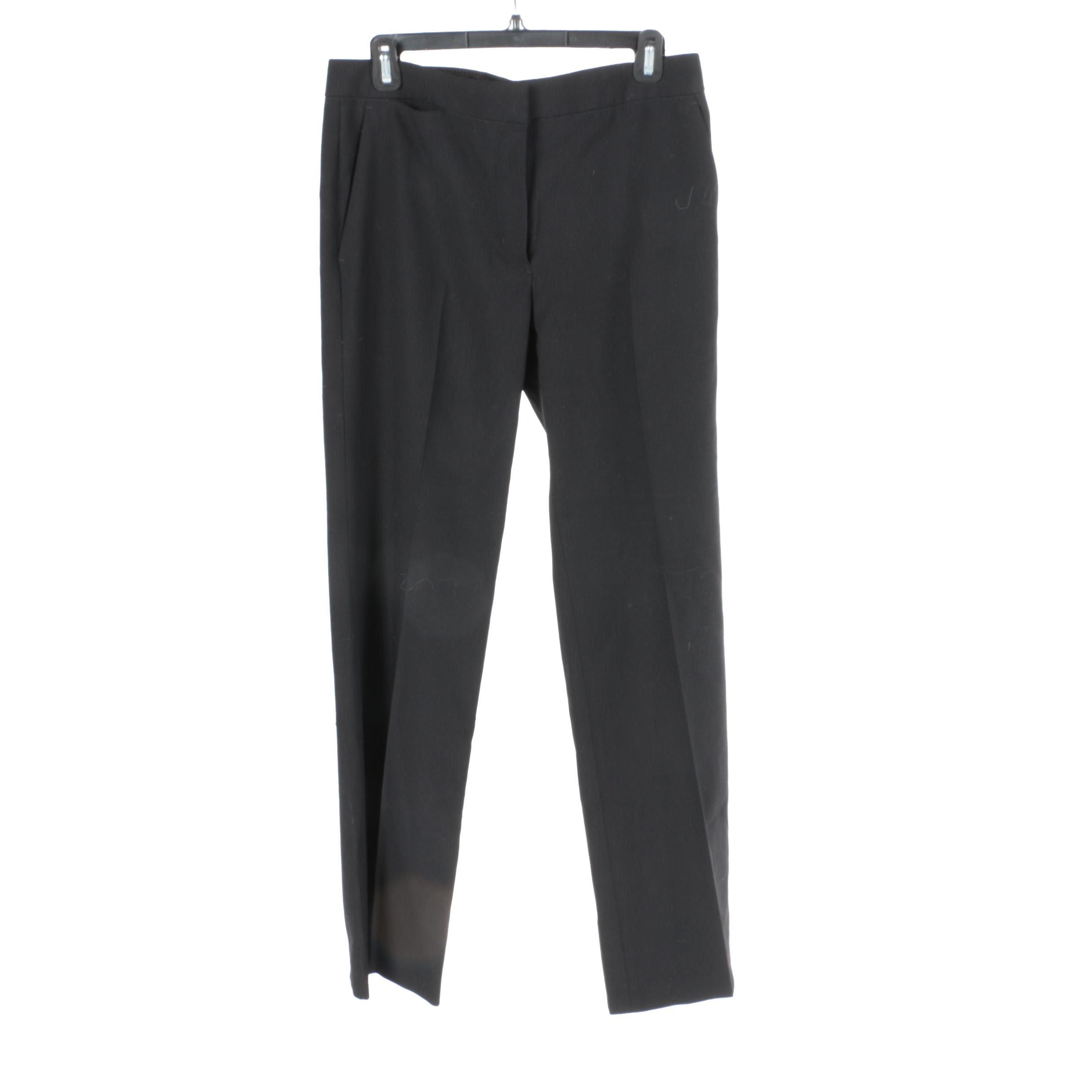 Helmut Lang Black Front Pleat Pants