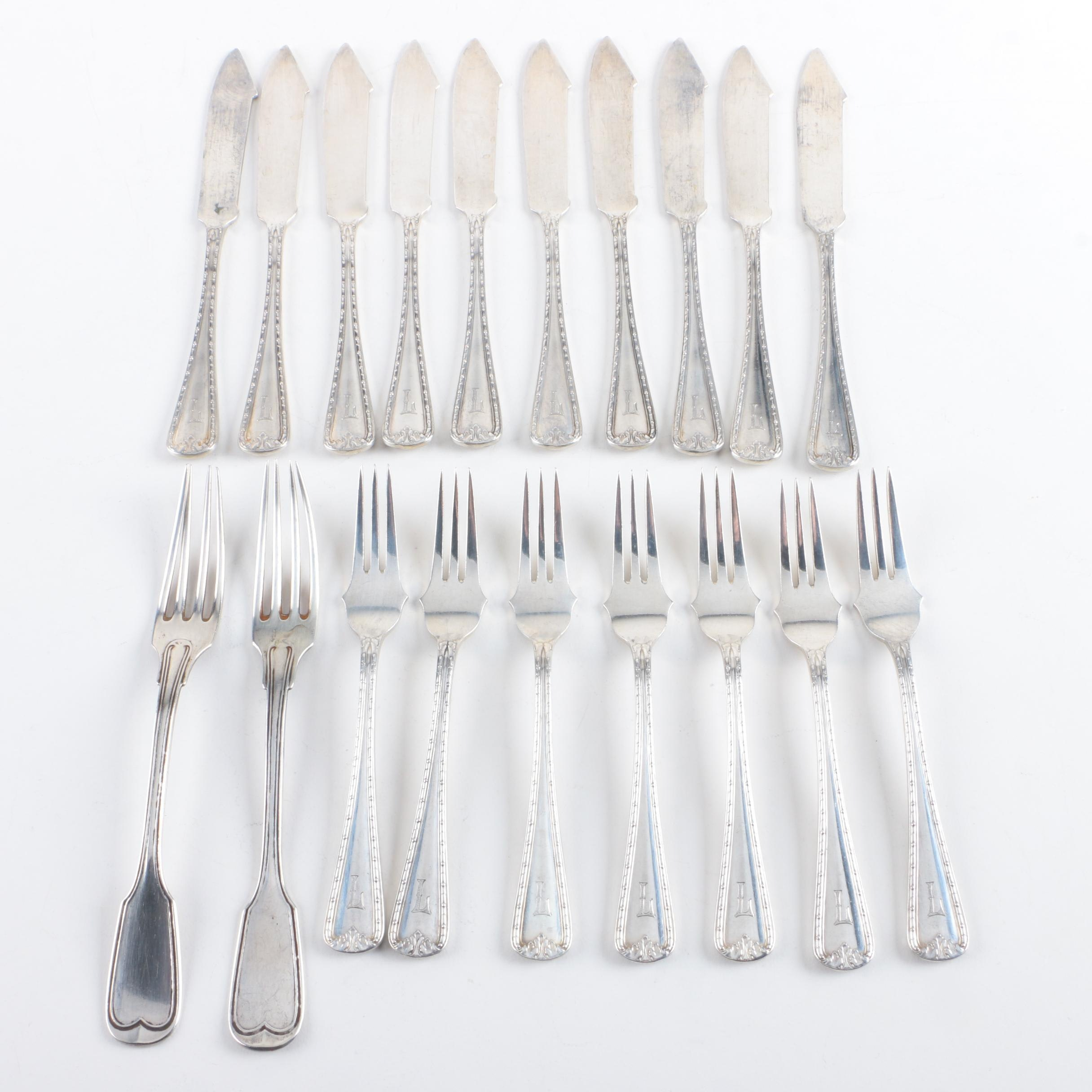 Lowenthal German 800 Silver Flatware