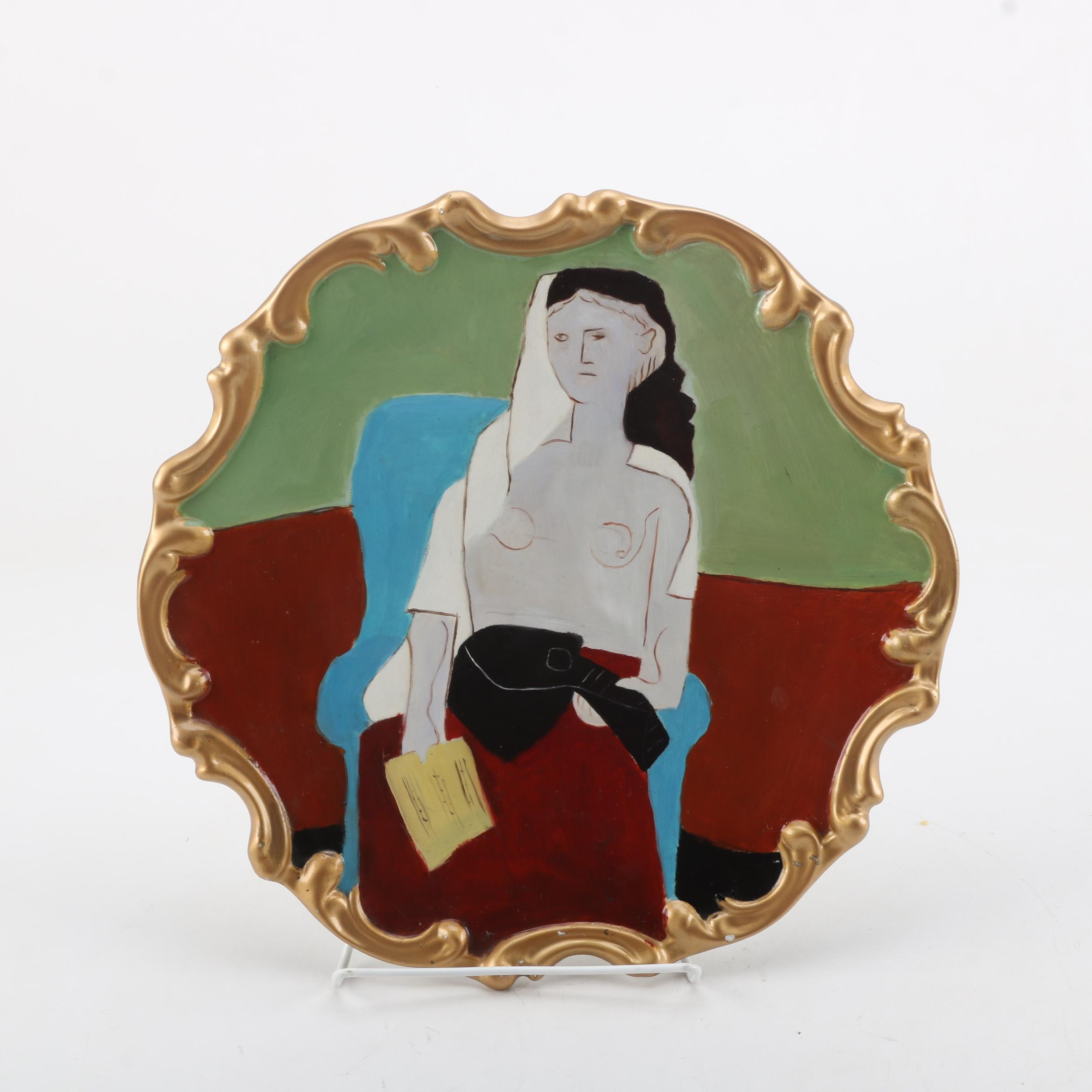 "Vintage After Picasso ""Femme Assise"" Decorative Plate"