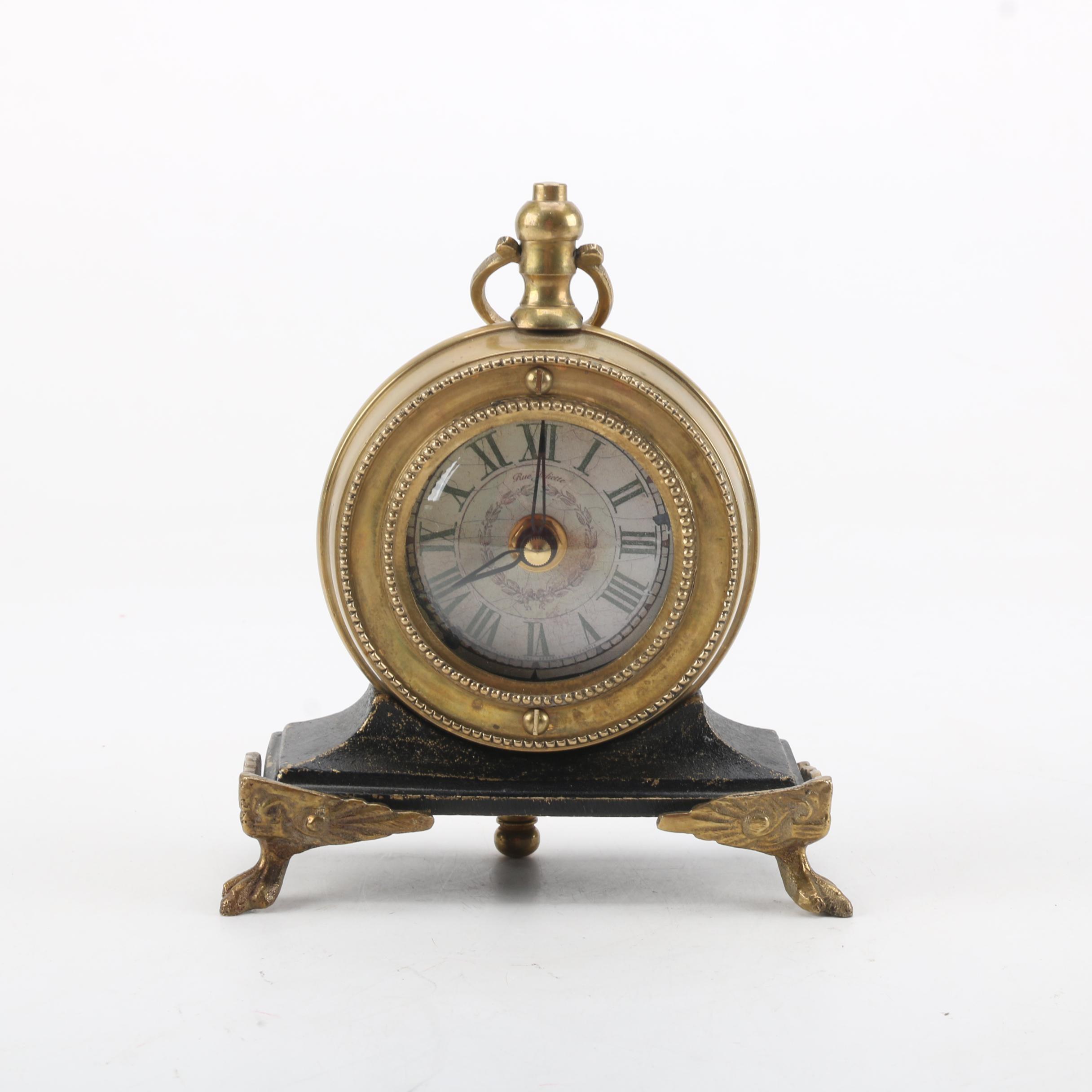 Rue Juliette Pocket Watch Style Desk Clock