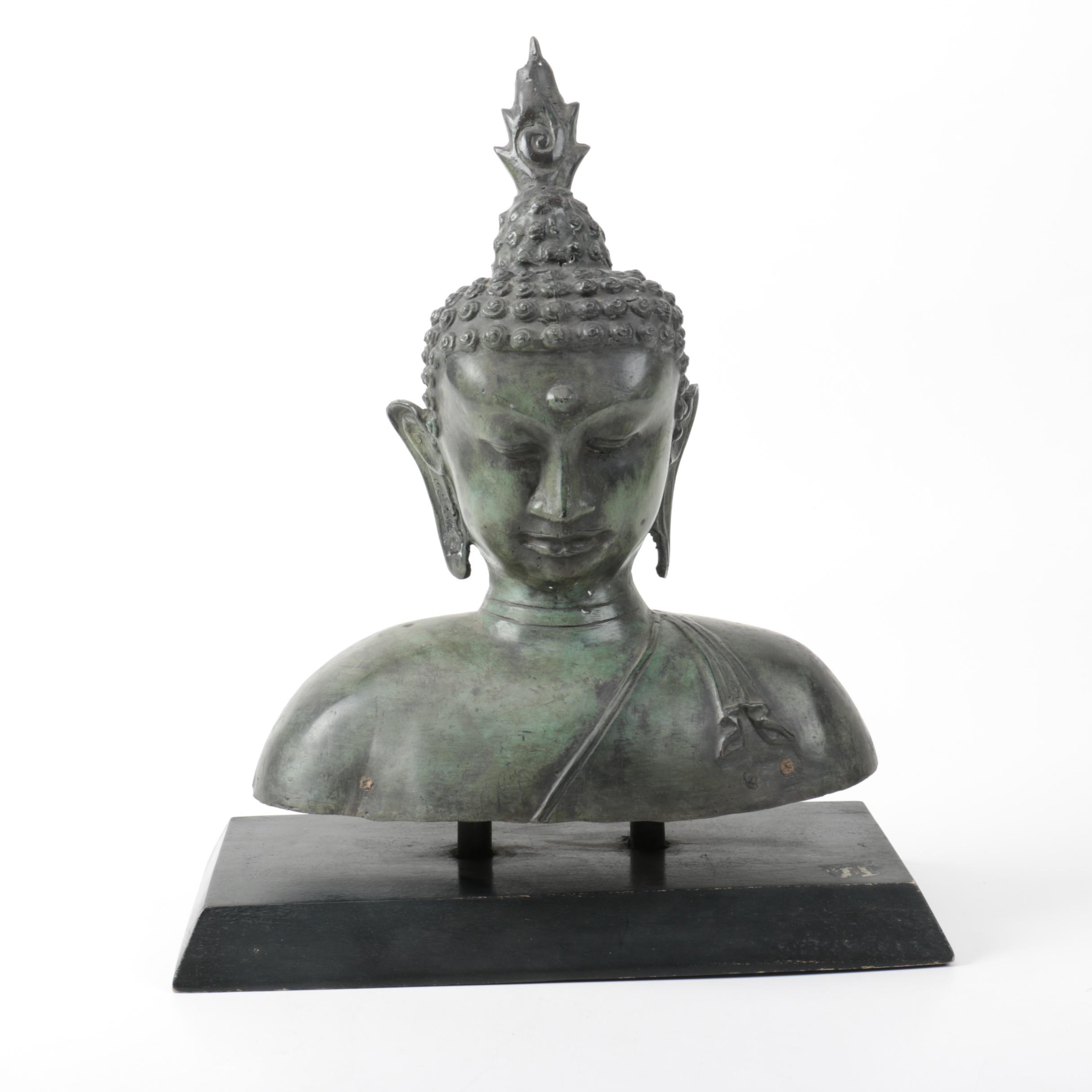 Buddhist Metal Bust