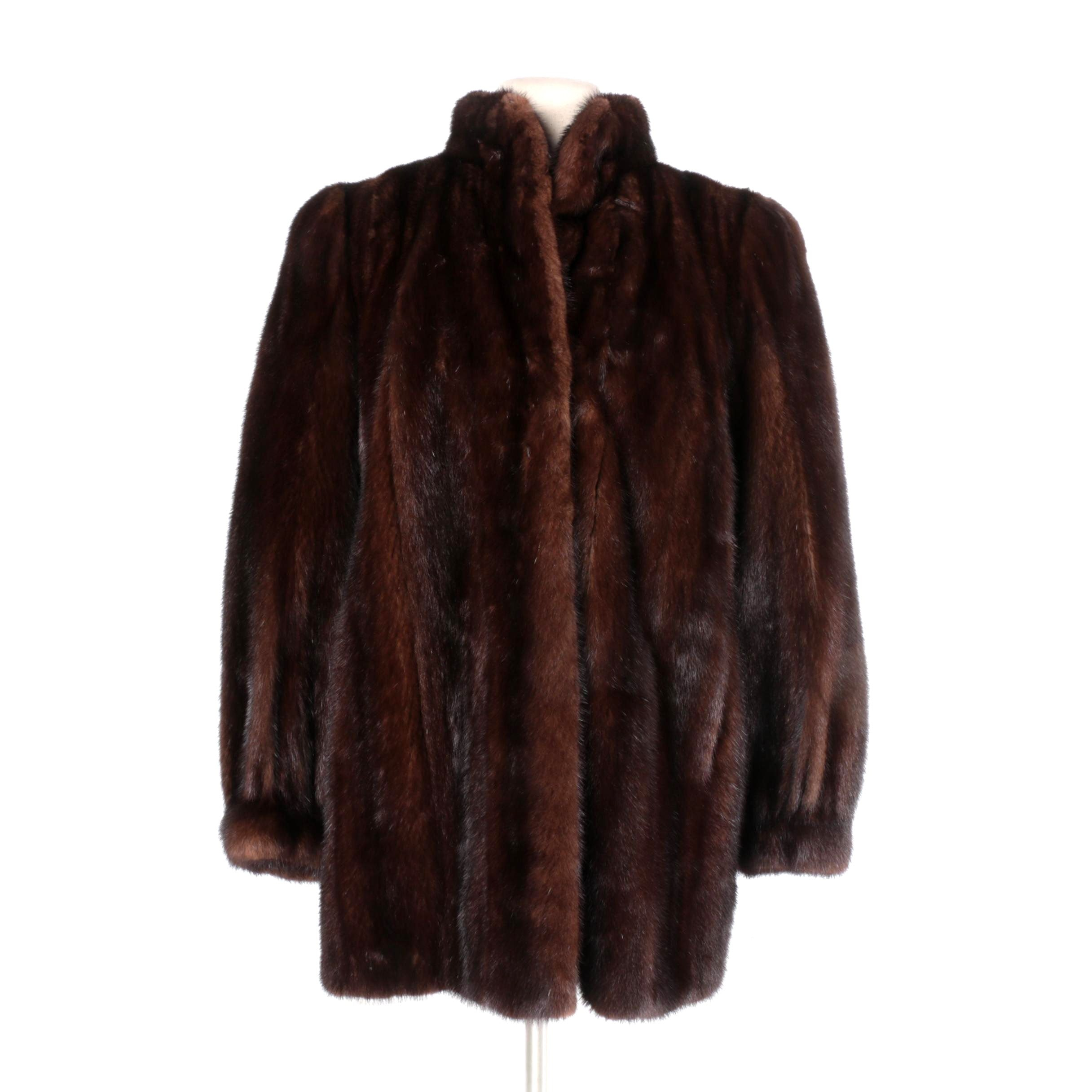 Vintage Christian Dior Fourrure Mink Fur Coat