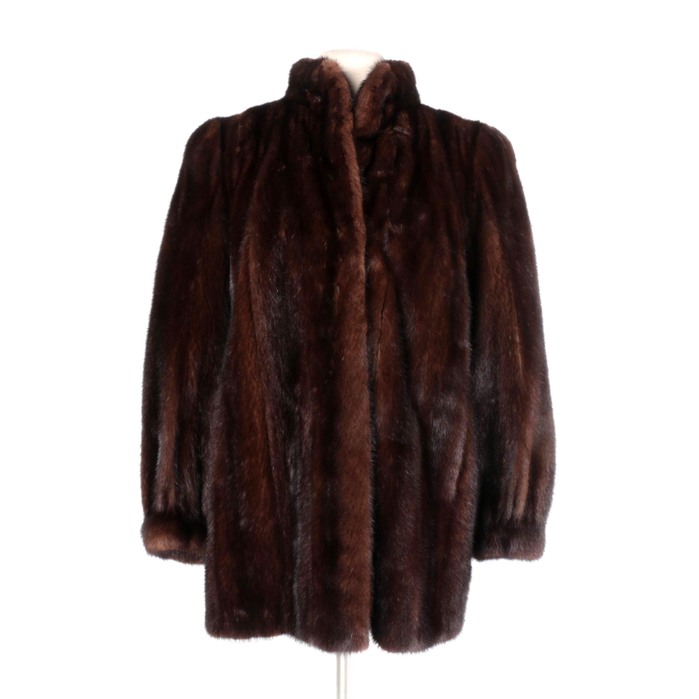 Vintage Christian Dior Fourrure Mink Fur Coat