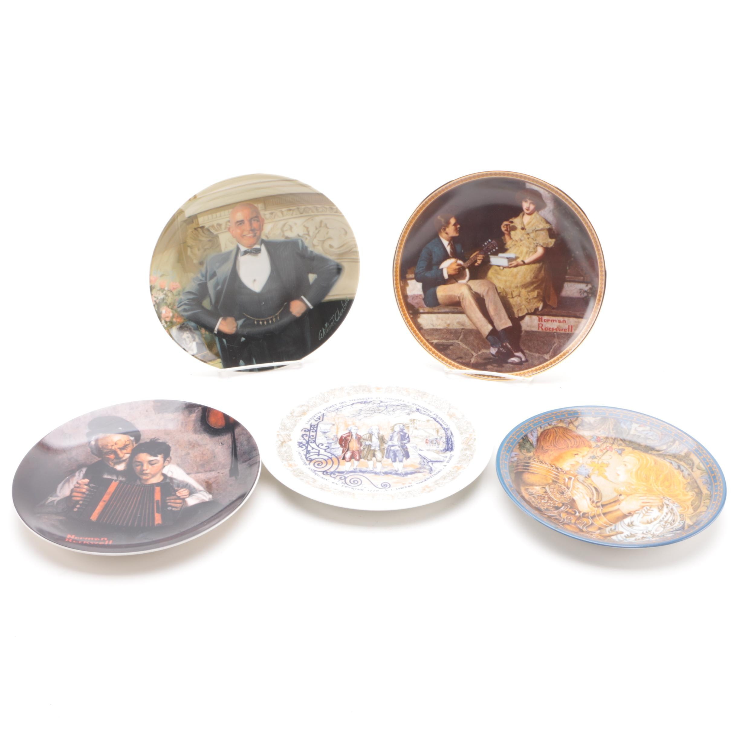 Collector's Plates Featuring Norman Rockwell