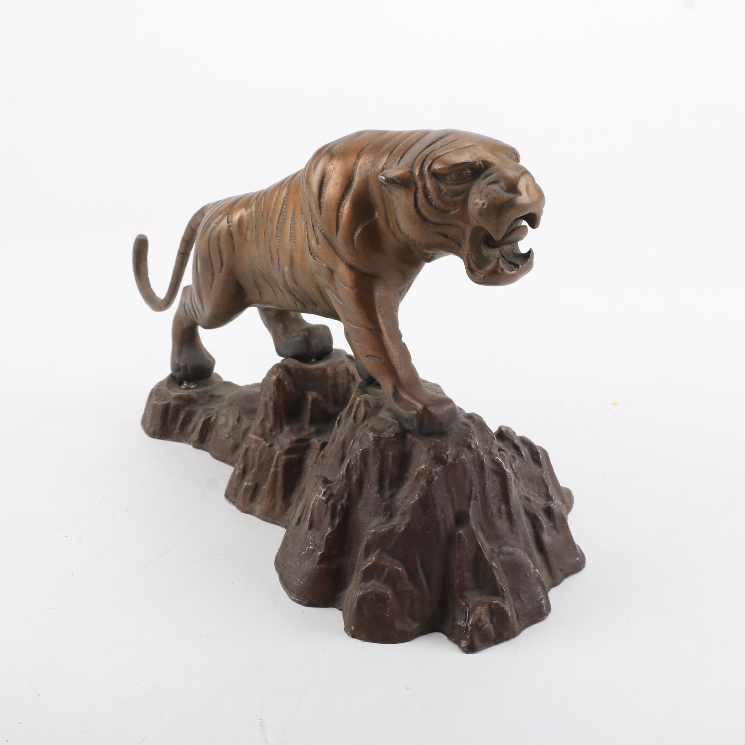 Metal Tiger Figurine on a Base