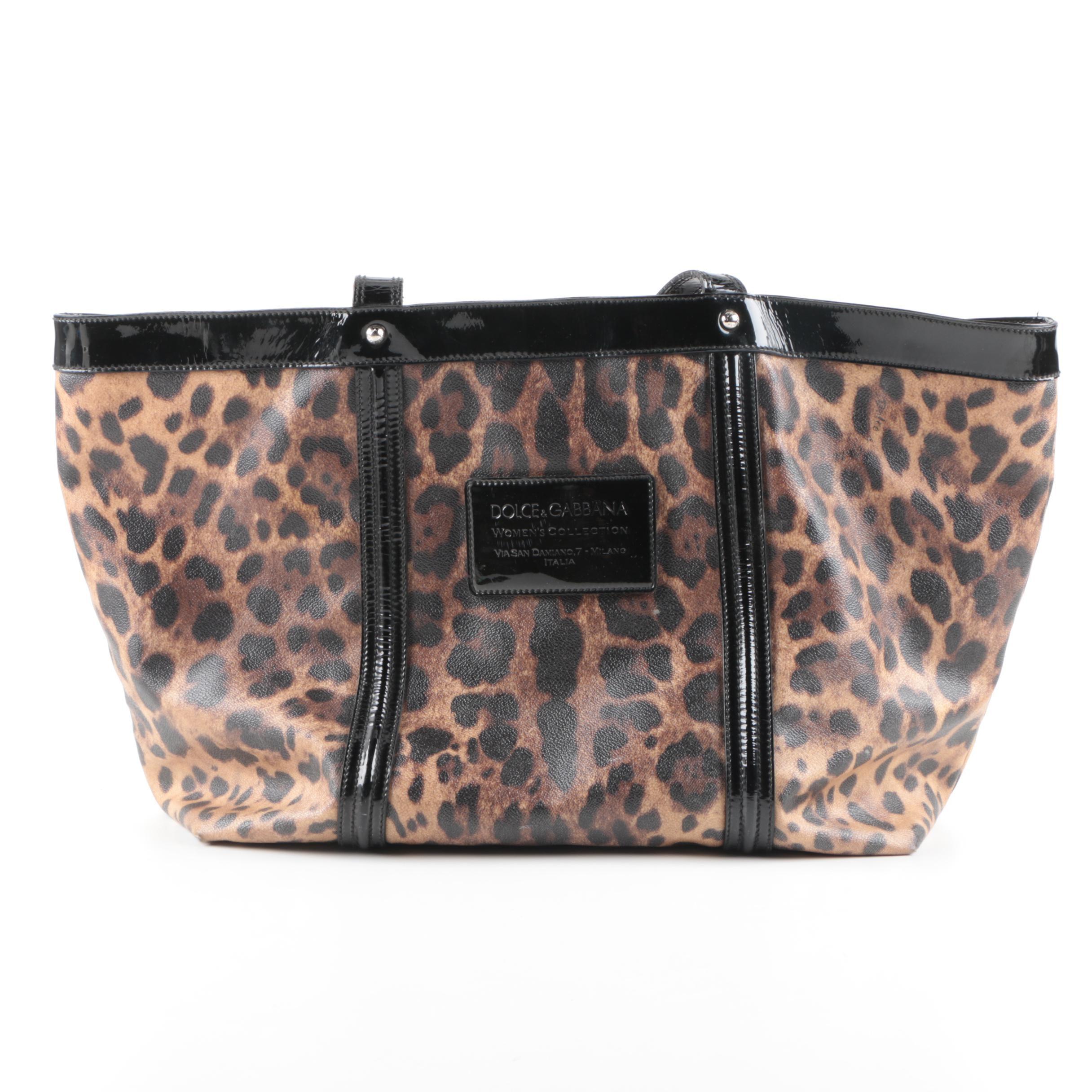 Dolce & Gabbana Miss Bye Bye Leopard Print Tote