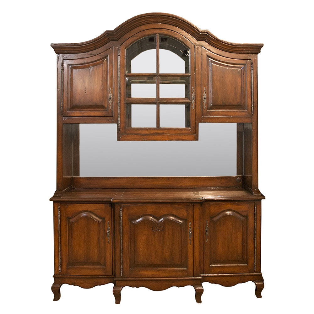French Provincial Style Sideboard and Hutch