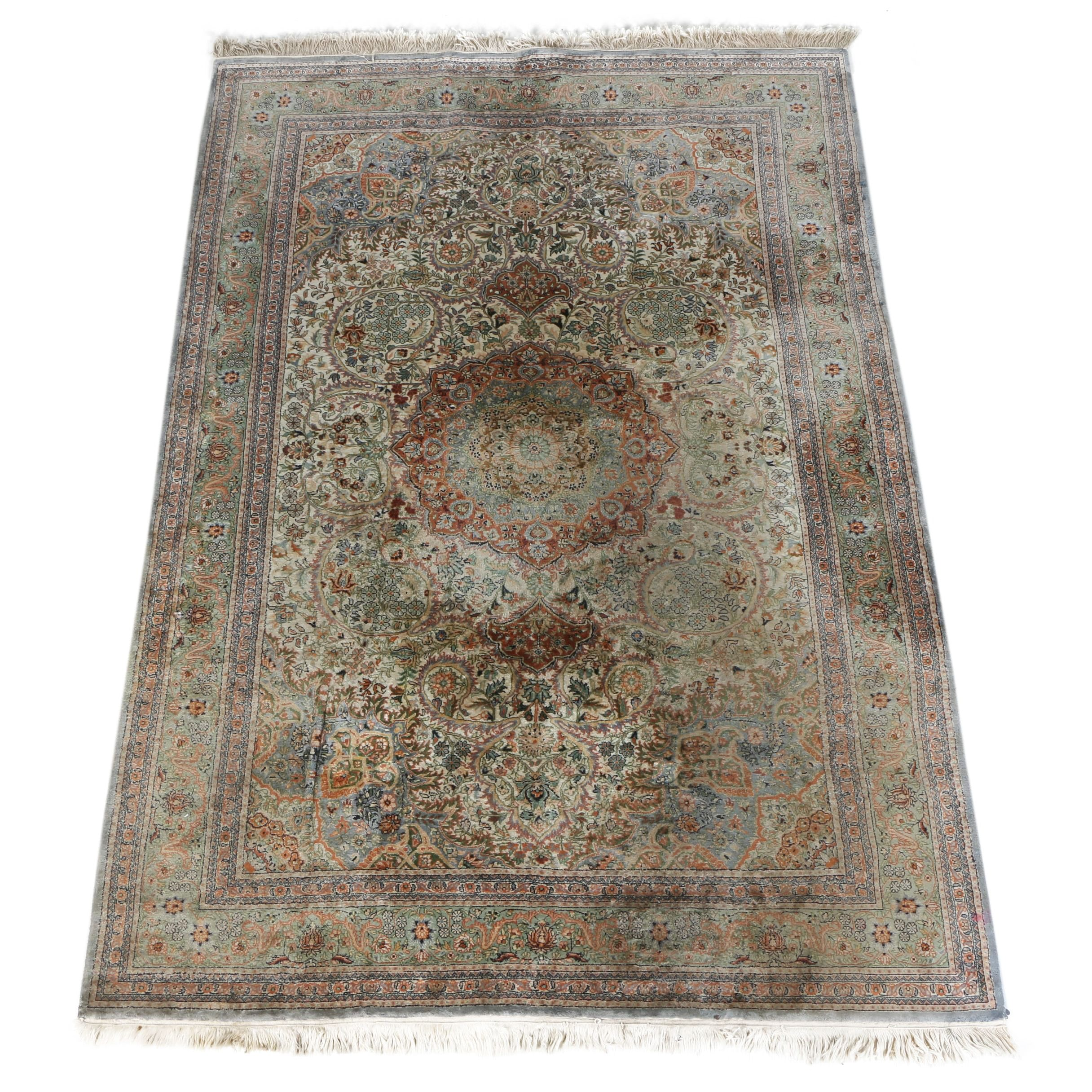 Finely Hand-Knotted Persian Isfahan Area Rug