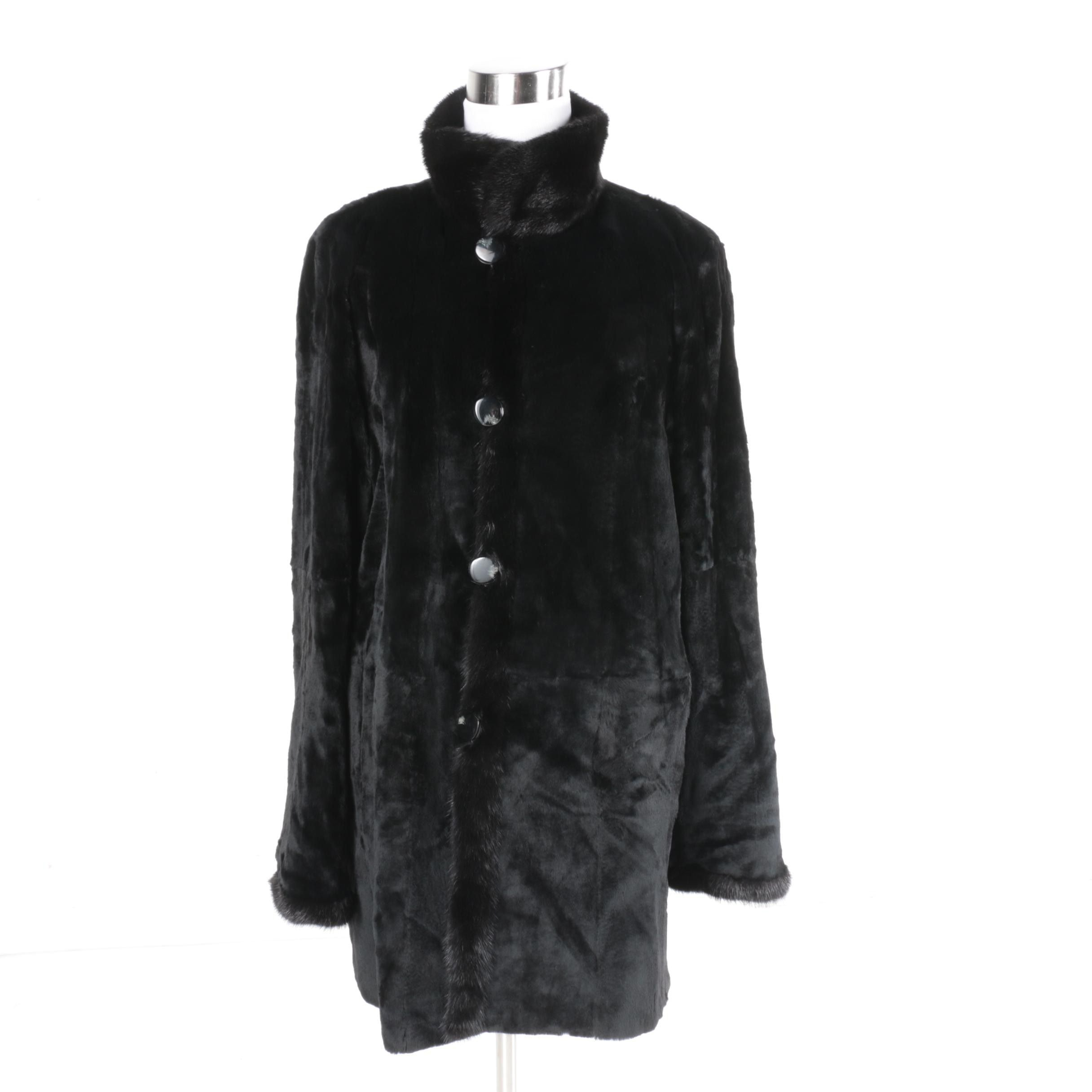 Black Mink Reversible Jacket