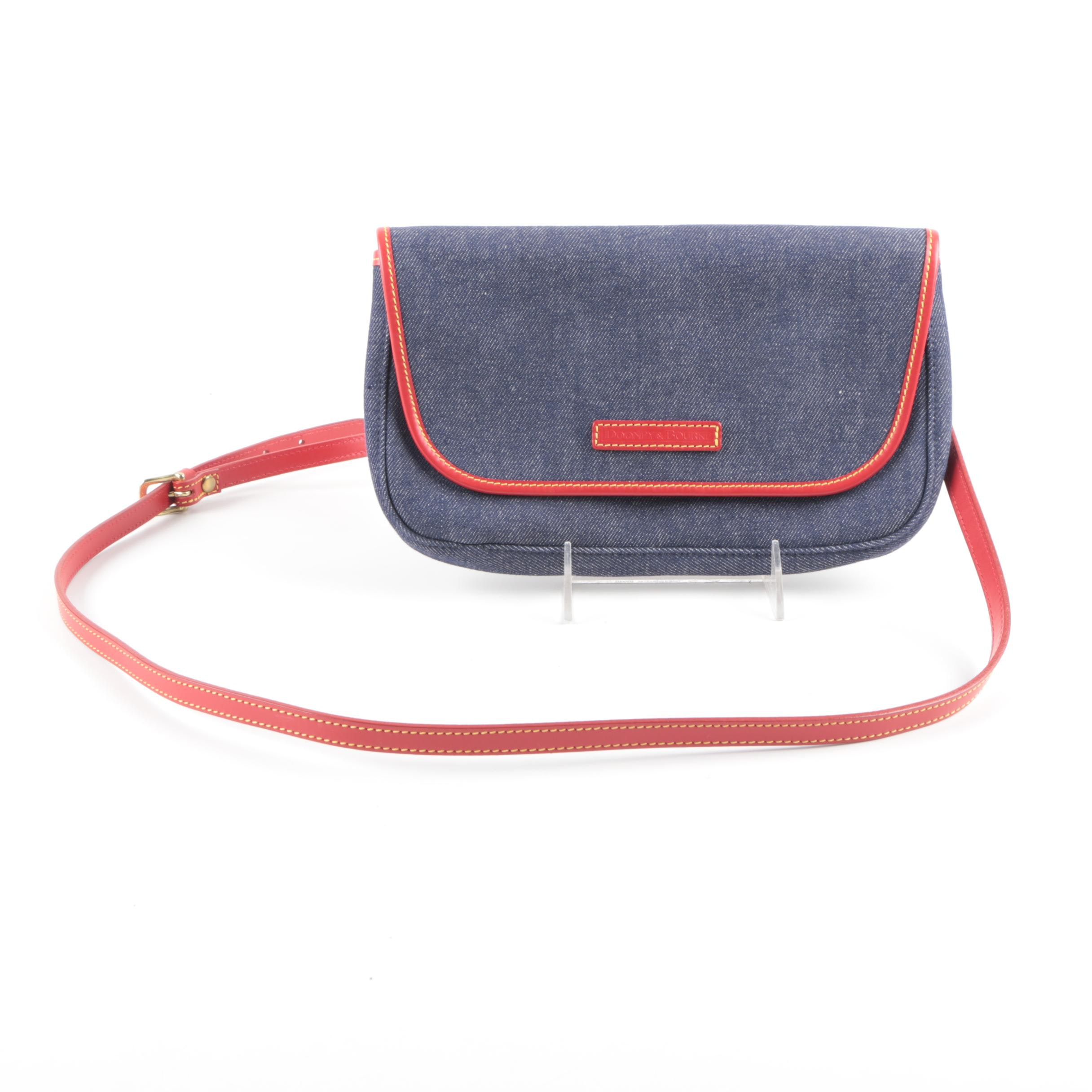 Dooney & Bourke Denim and Leather Handbag