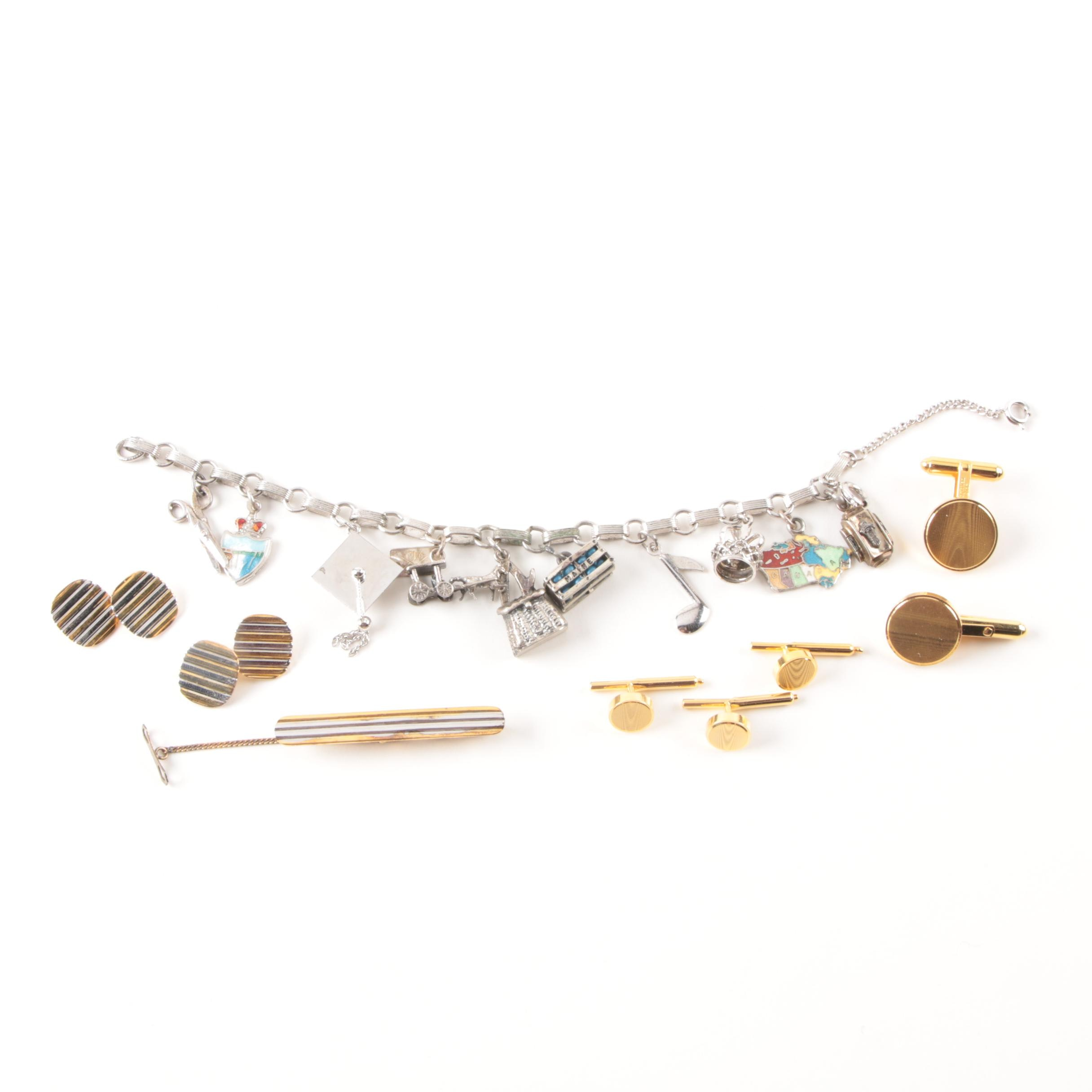 Grouping of Jewelry Including Christian Dior, Sterling, and 800 Silver