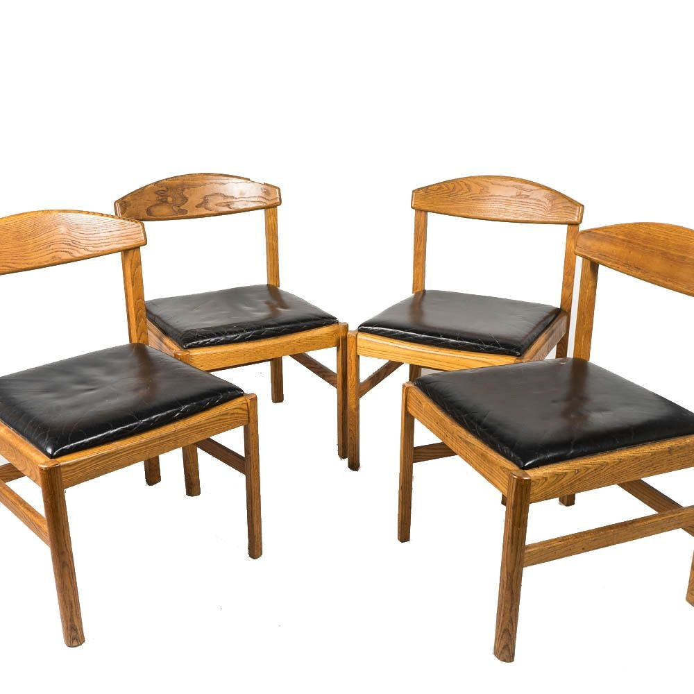 Set of Mid Century Oak Chairs