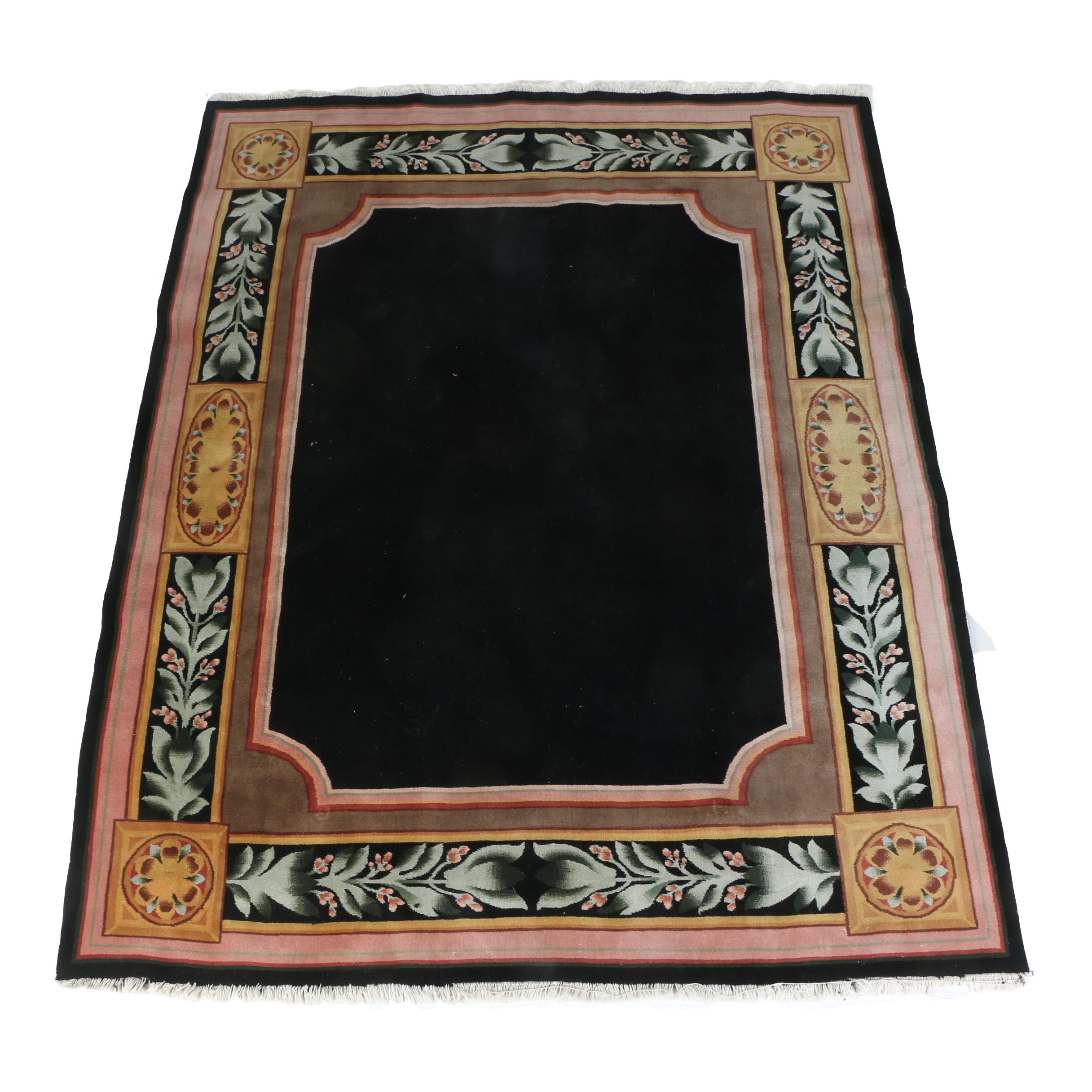 Hand-Knotted Neoclassical Style Wool Area Rug