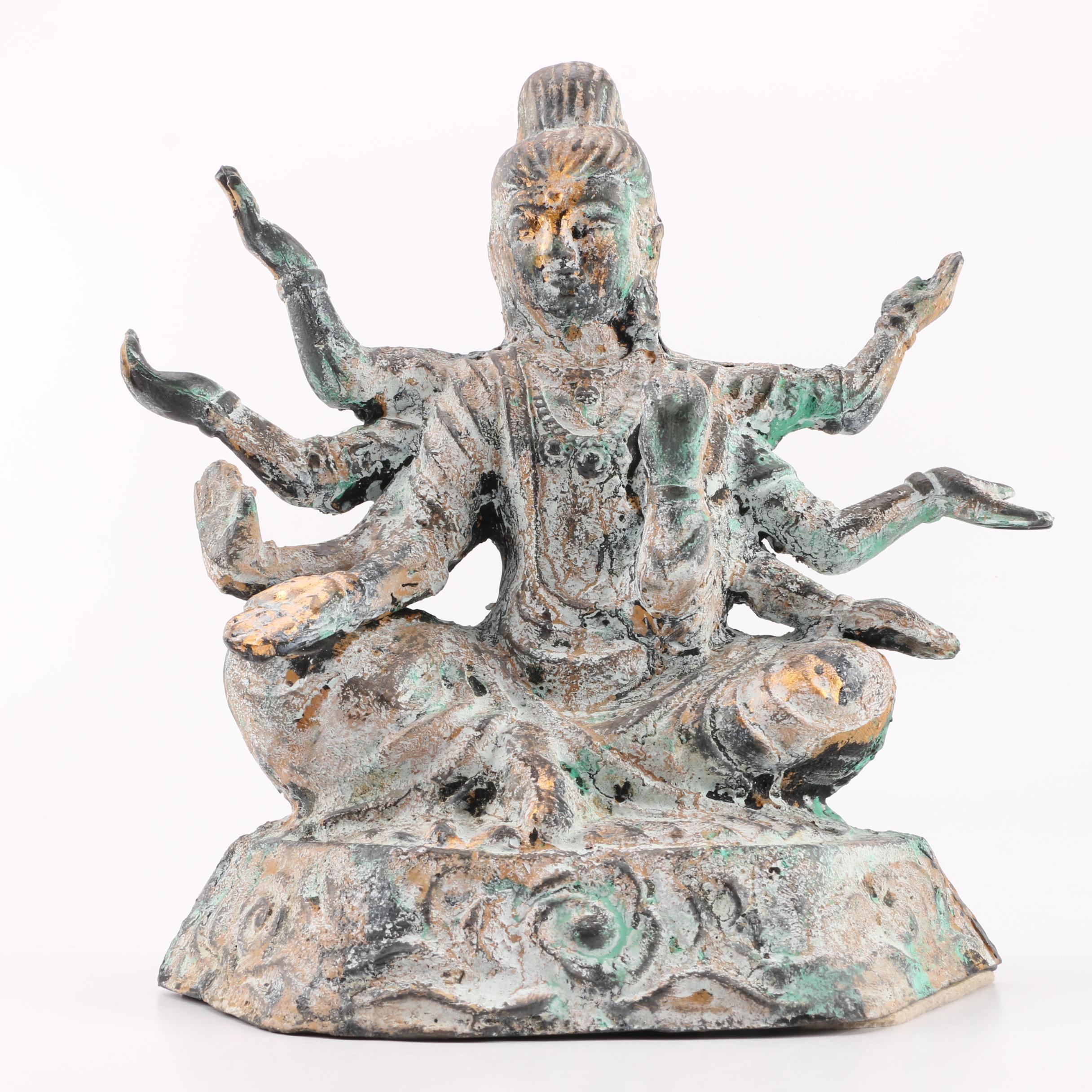 Cast Iron Figurine of Vishnu