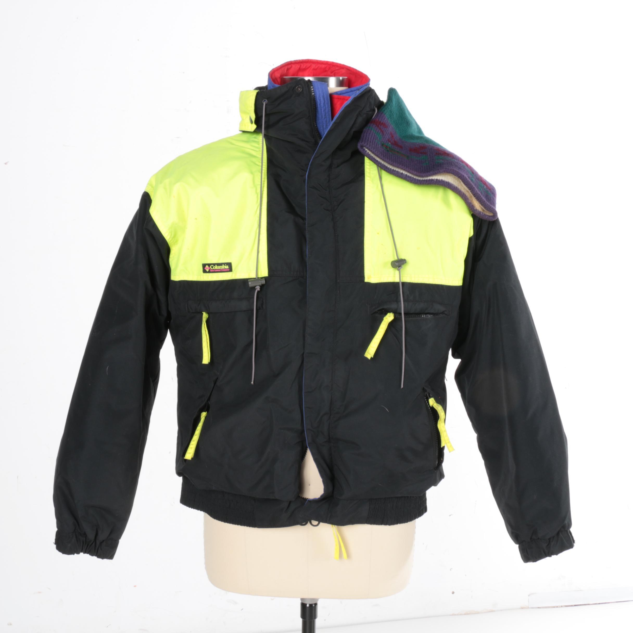 "Men's Columbia ""Vamoose"" Ski Jacket and Hat"
