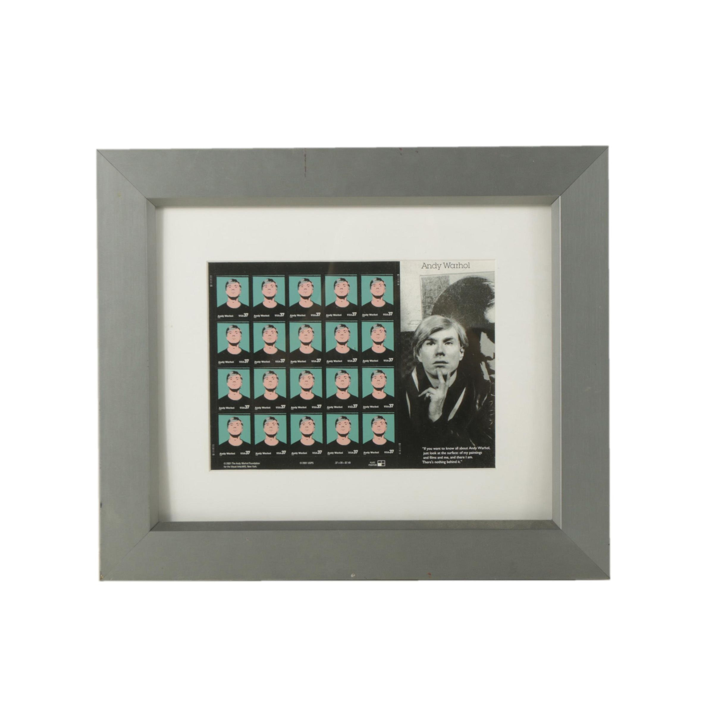 United States Andy Warhol Mint Postage Stamp Sheet