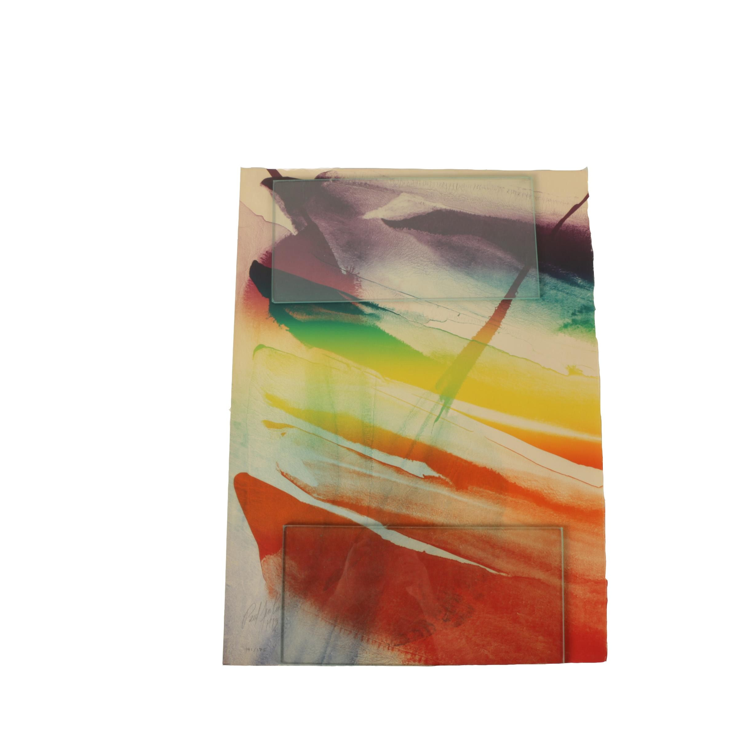 Paul Jenkins Limited Edition Lithograph Abstract Composition
