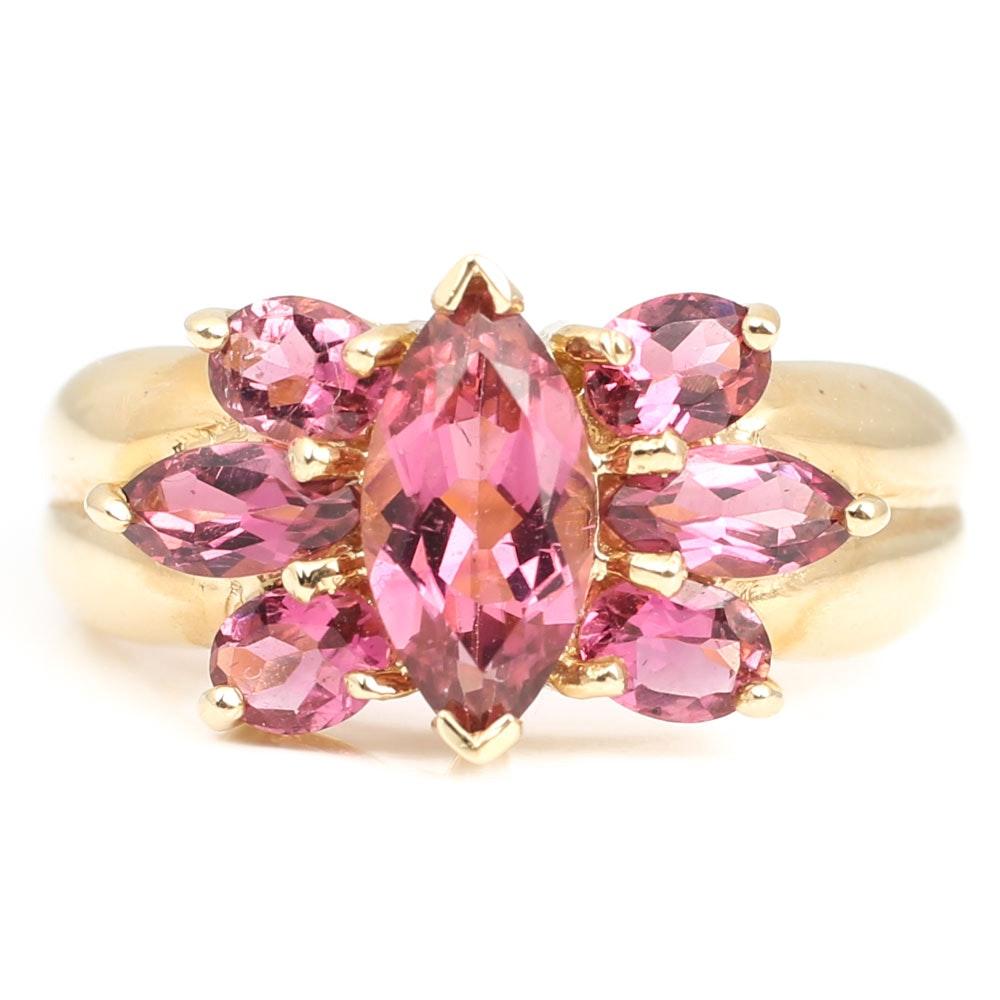 14K Yellow Gold 2.24 CTW Pink Tourmaline Ring