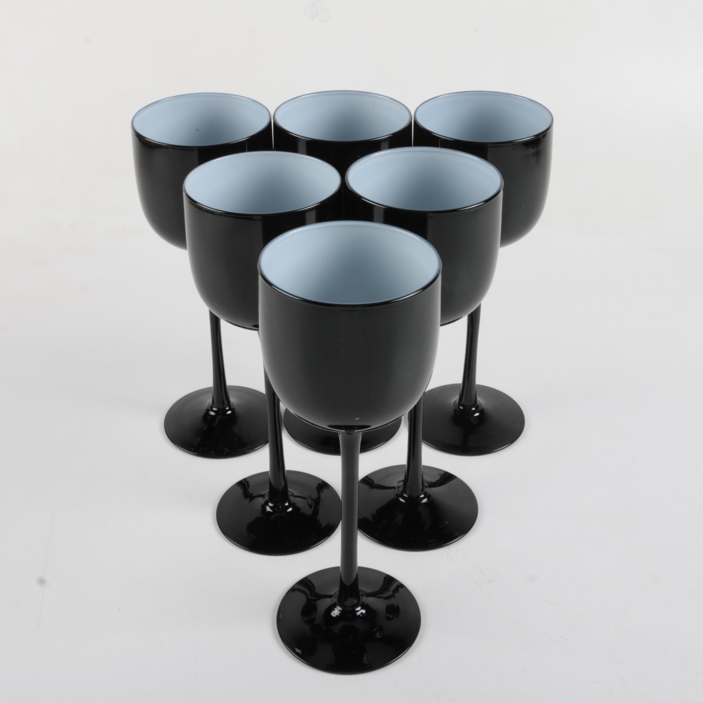 Black Glass Goblets