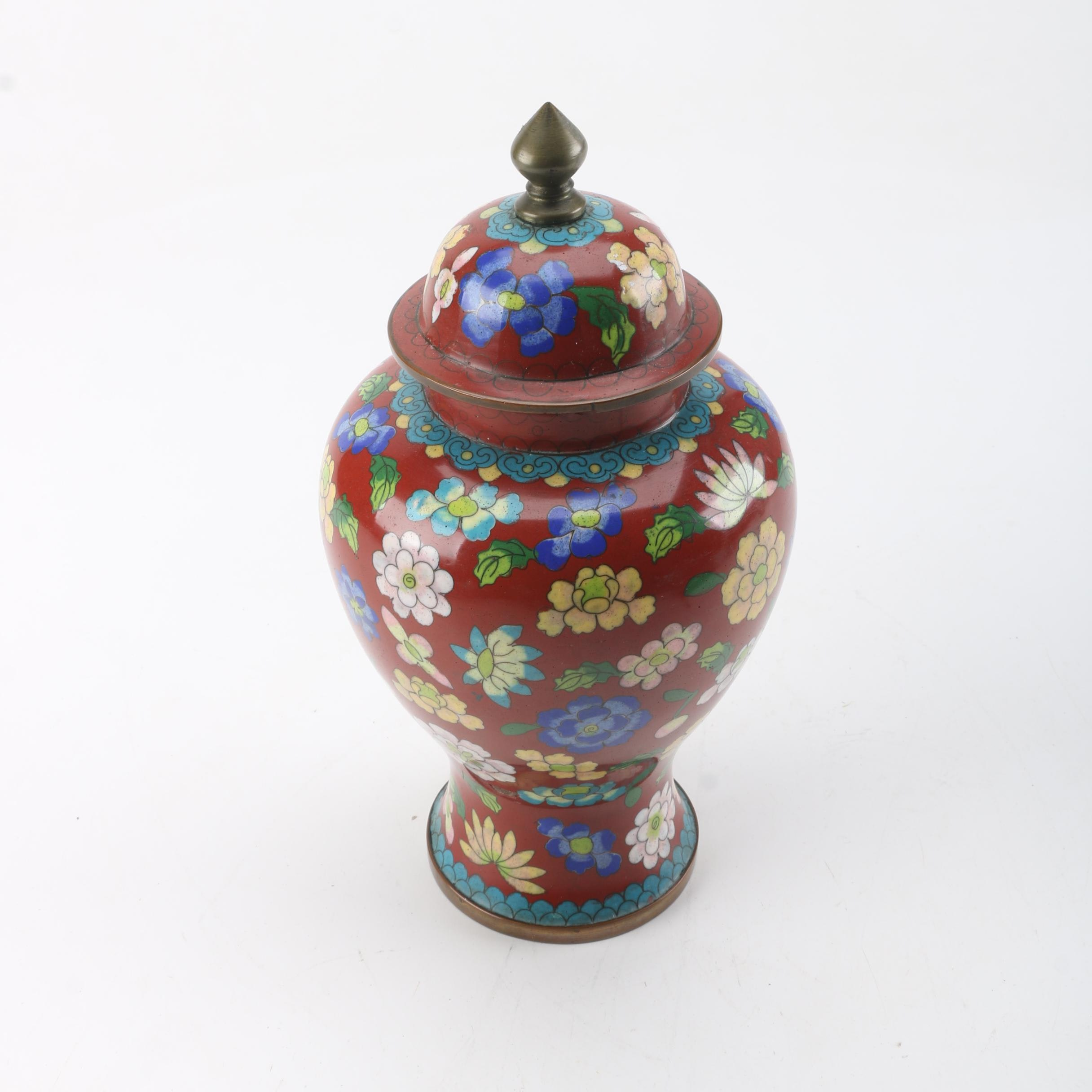 Chinese Cloisonné Ginger Jar