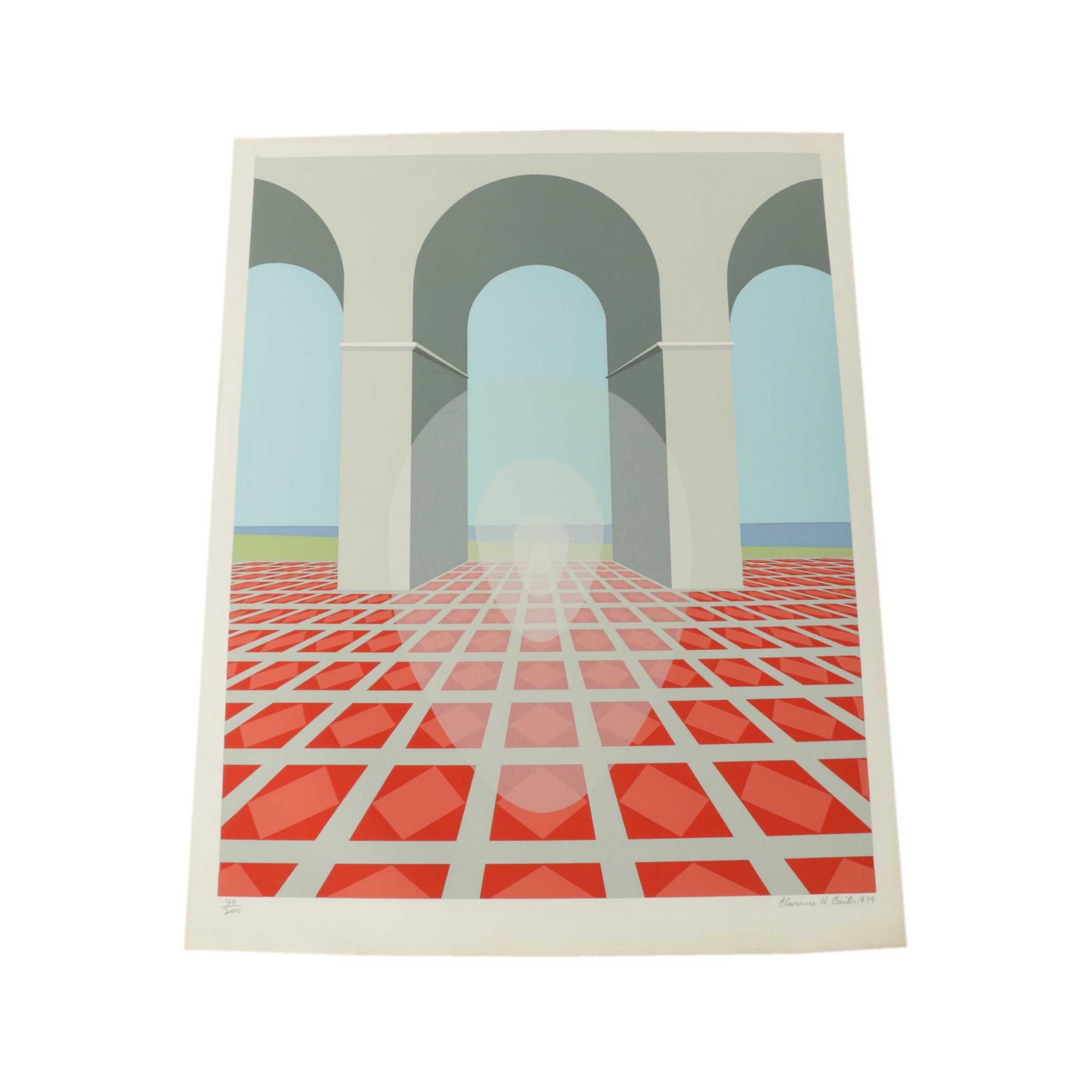"""Clarence Holbrook Carter Limited Edition Serigraph on Paper """"Arches"""""""