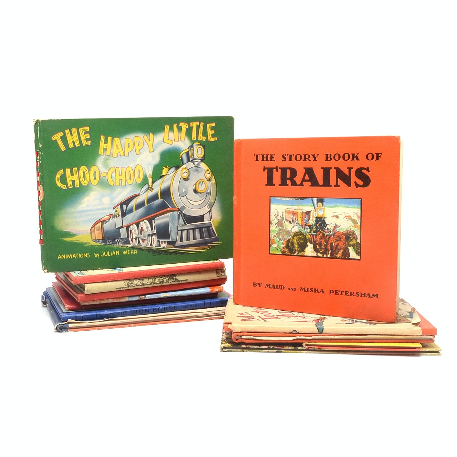 Vintage Children's Books on Trains
