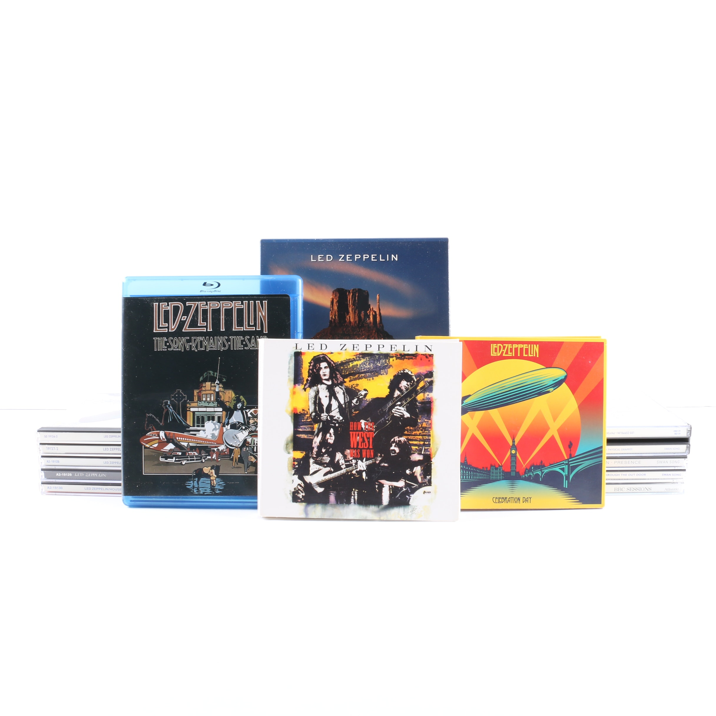 Led Zeppelin CD, Blu-Ray, and DVD Collection