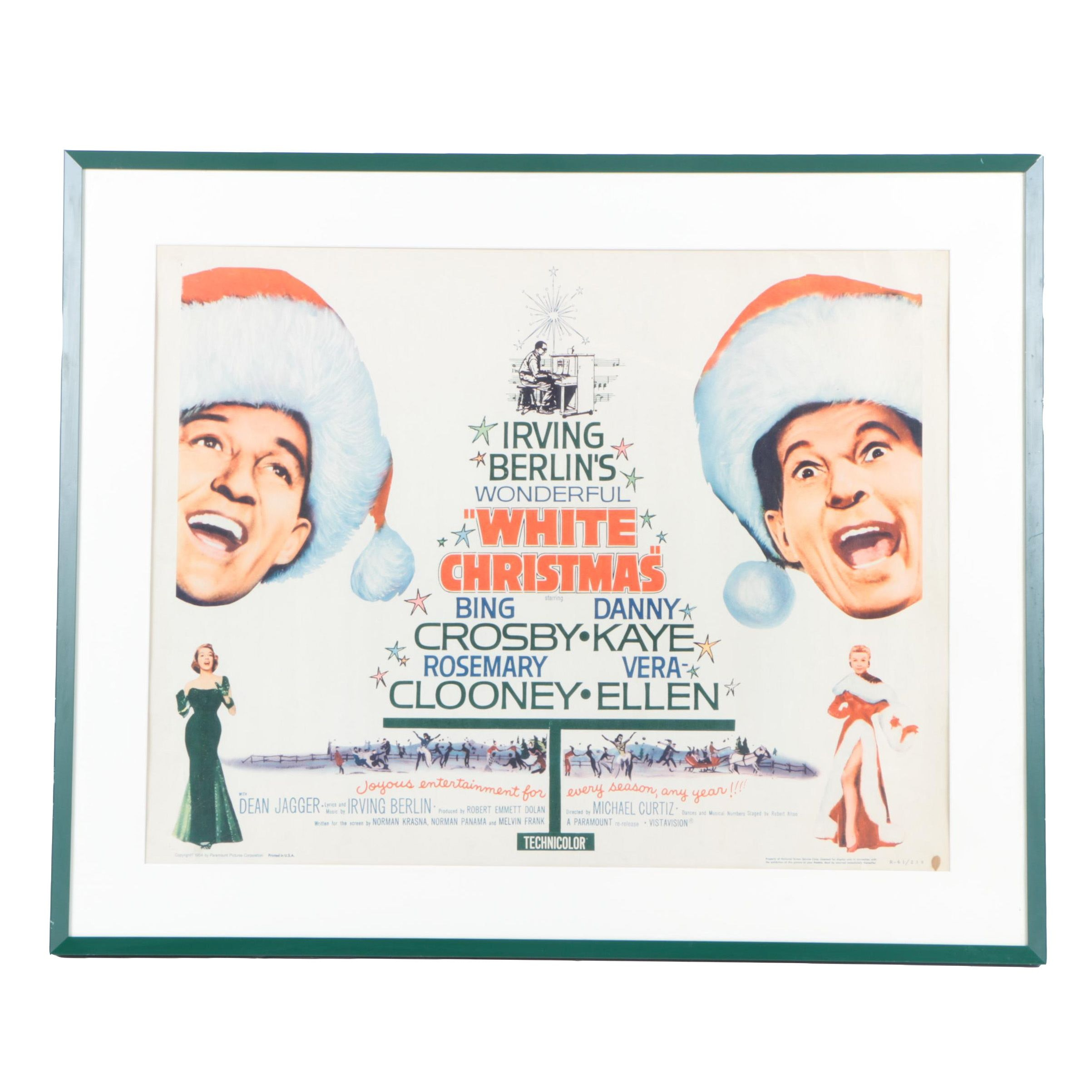 "Reproduction Poster For The Film ""White Christmas"""