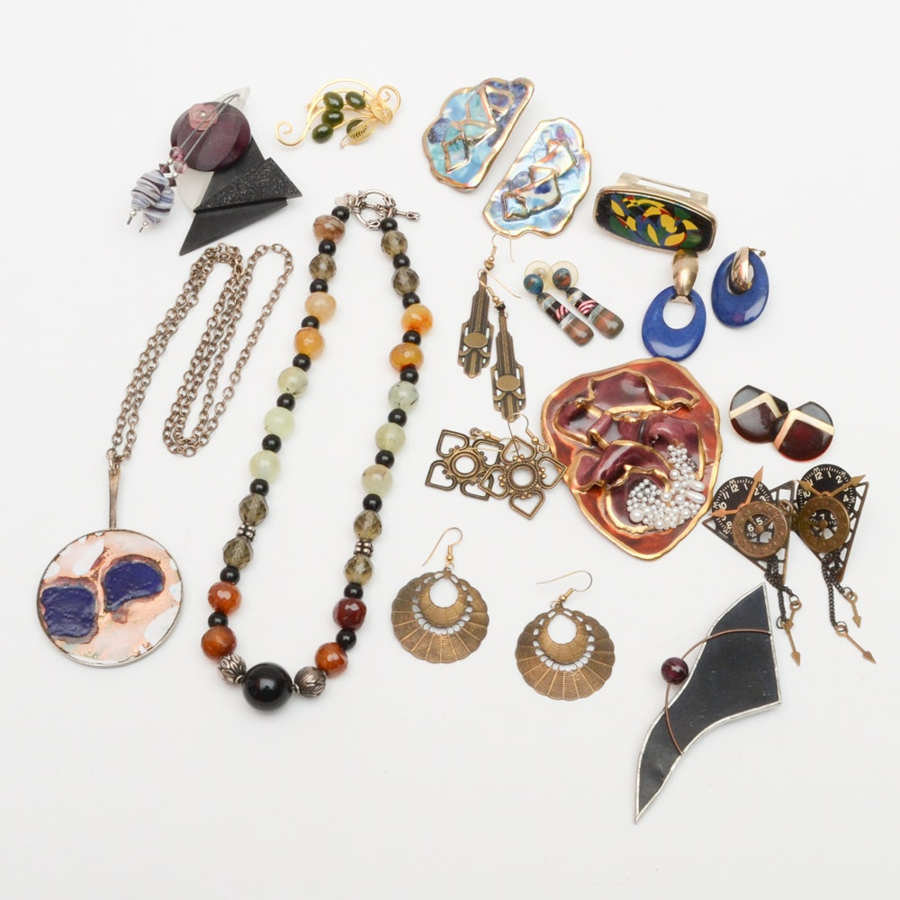Assortment of Costume and Art Jewelry