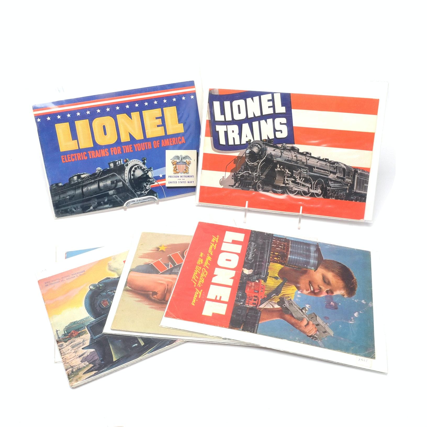"Six 1940s ""Lionel"" Model Train Catalogs"