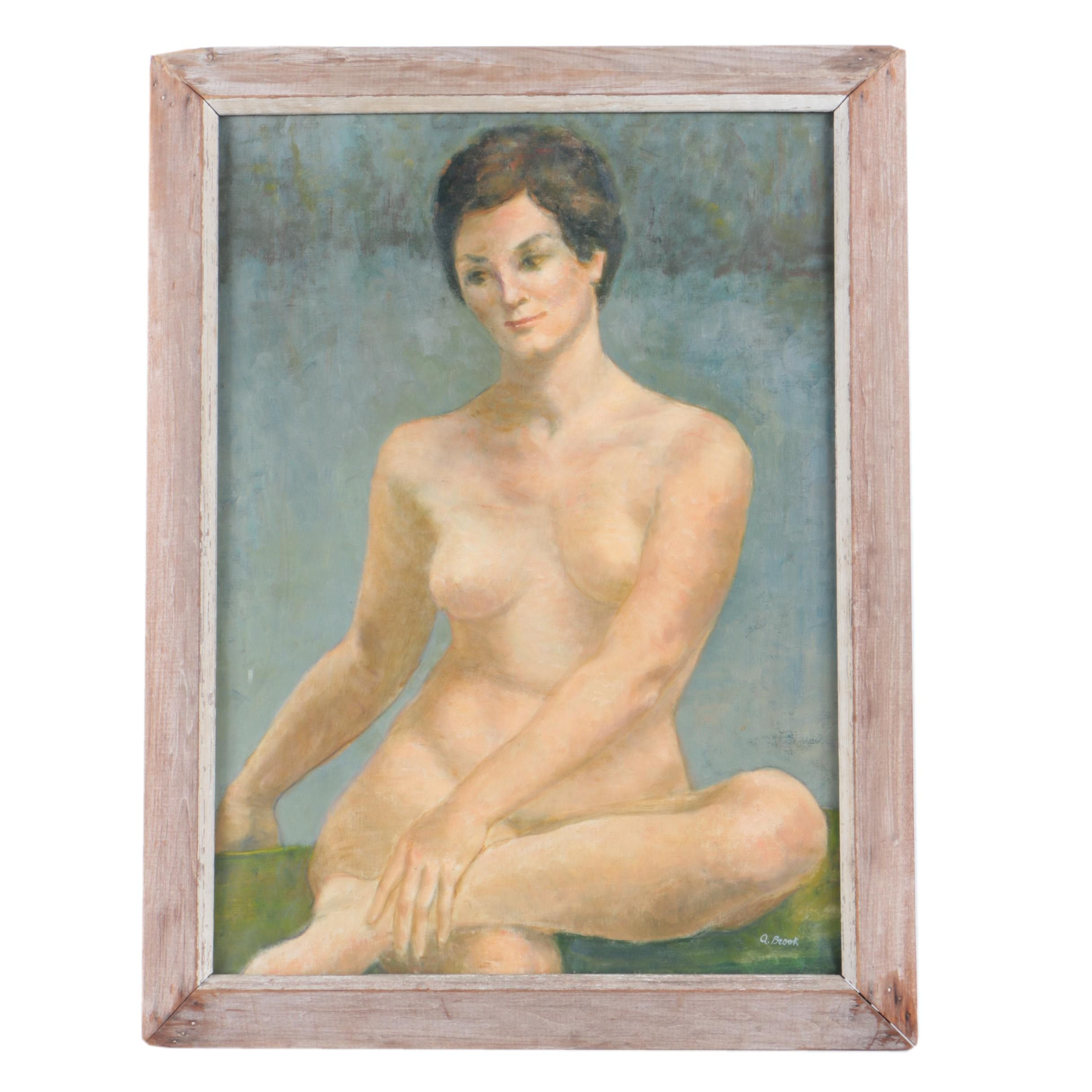 Oil Painting on Canvas of Nude Figure in the Manner of Alexander Brook
