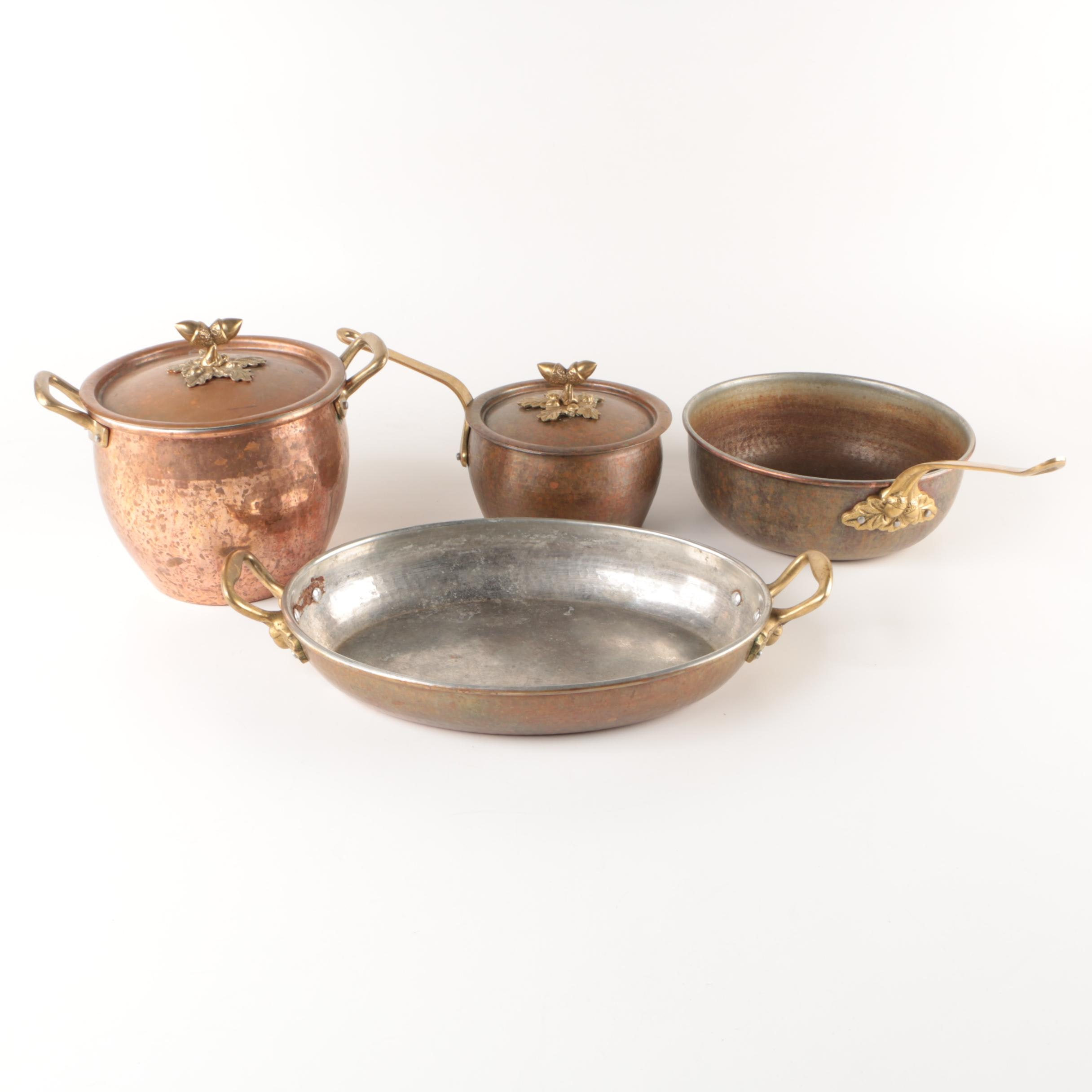 Vintage Copper Cookware Featuring Ruffoni Italy