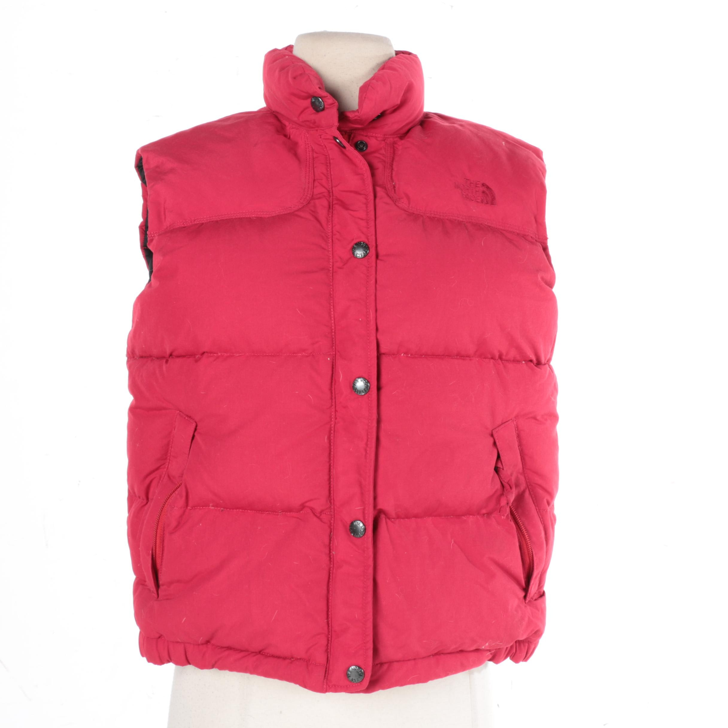 Women's The North Face Red Puffer Vest