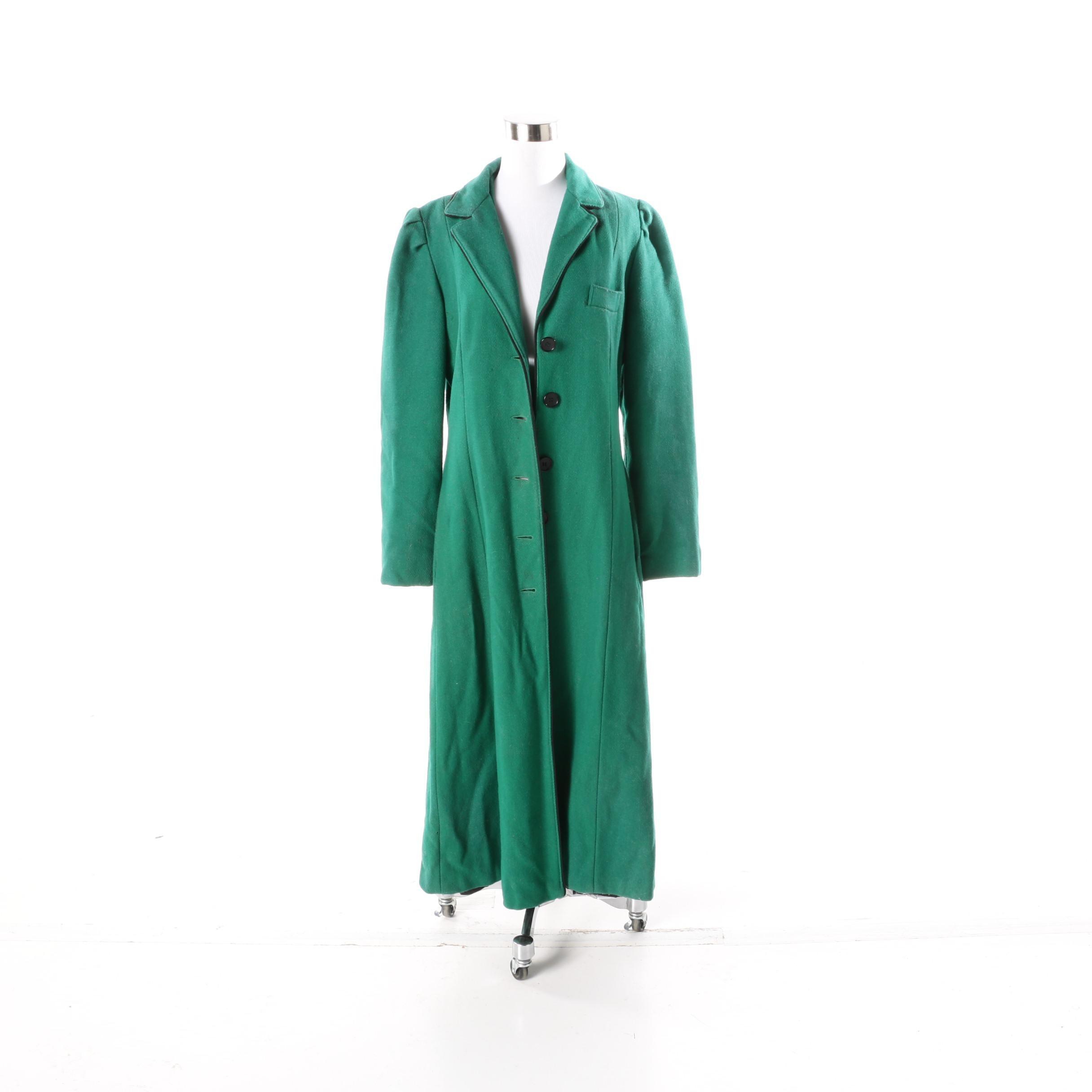 Women's Vintage Wool Overcoat
