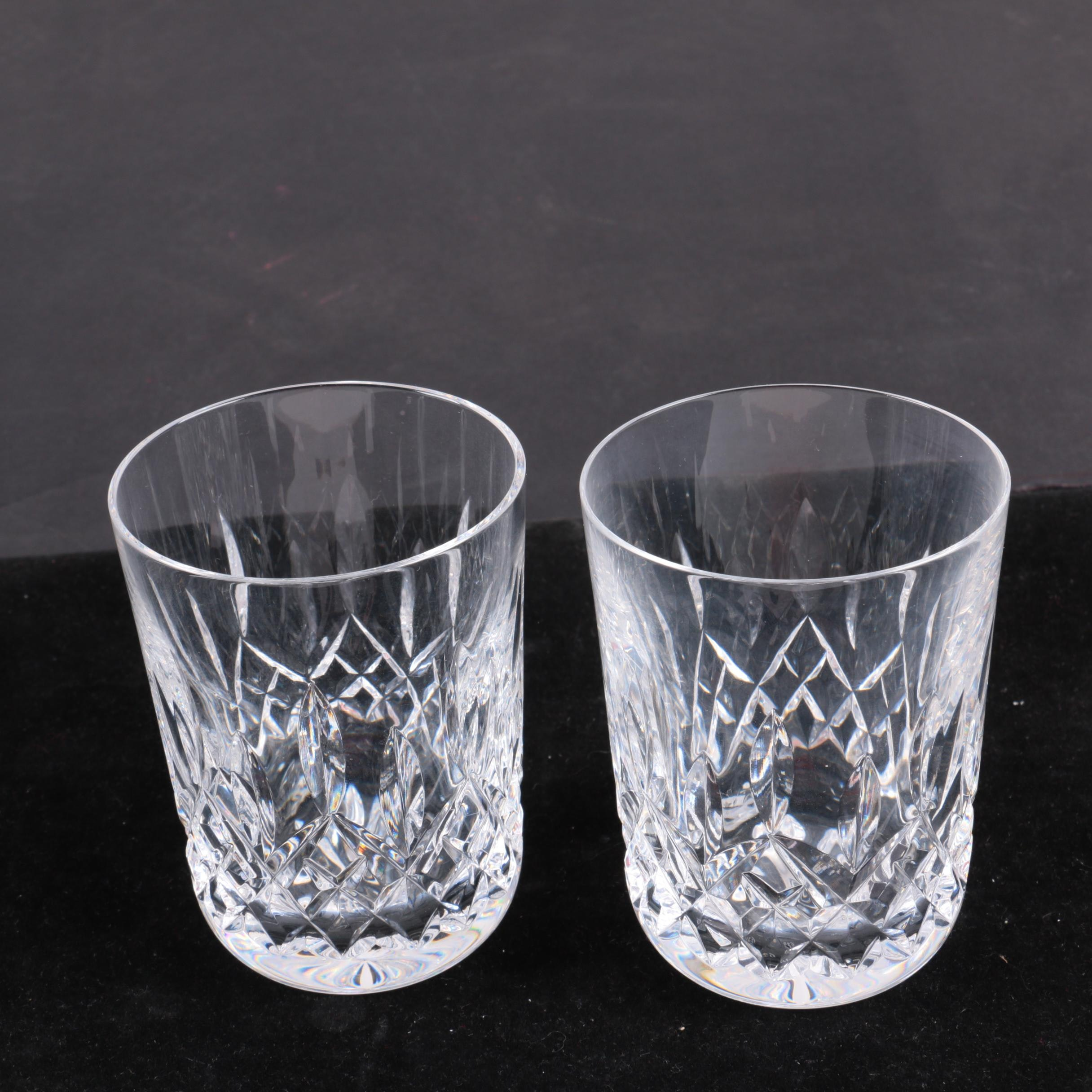 """Waterford Crystal """"Lismore"""" Old Fashioned Glasses"""