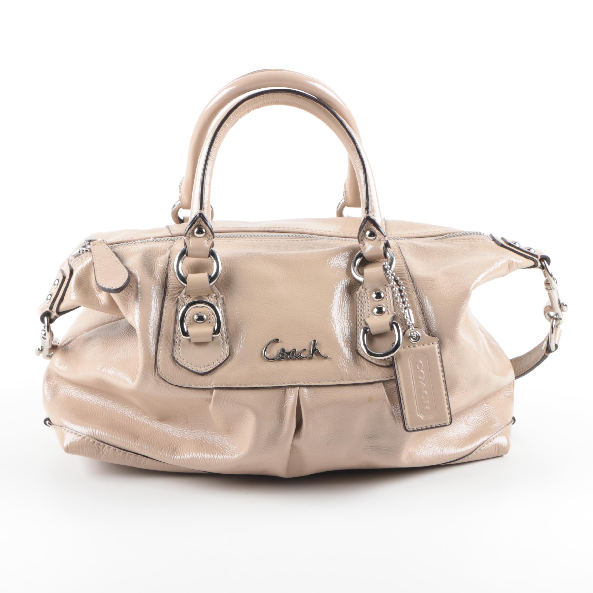 Coach Ashley Patent Satchel Bag