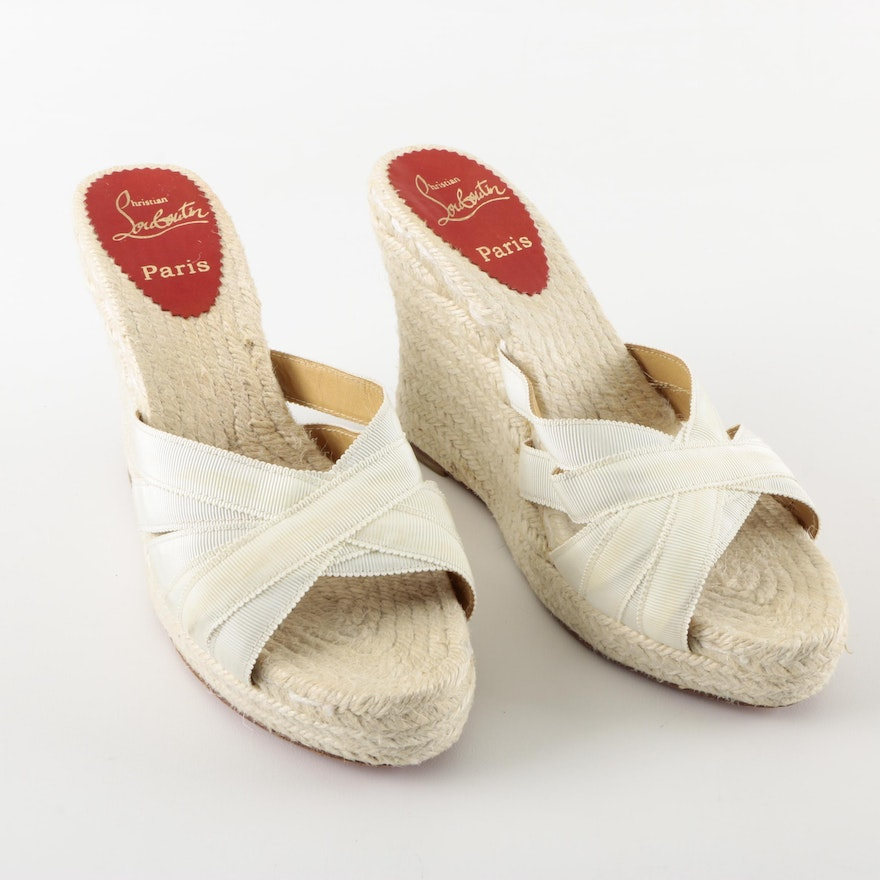 size 40 76279 c59c4 Christian Louboutin Espadrille Wedge Sandals