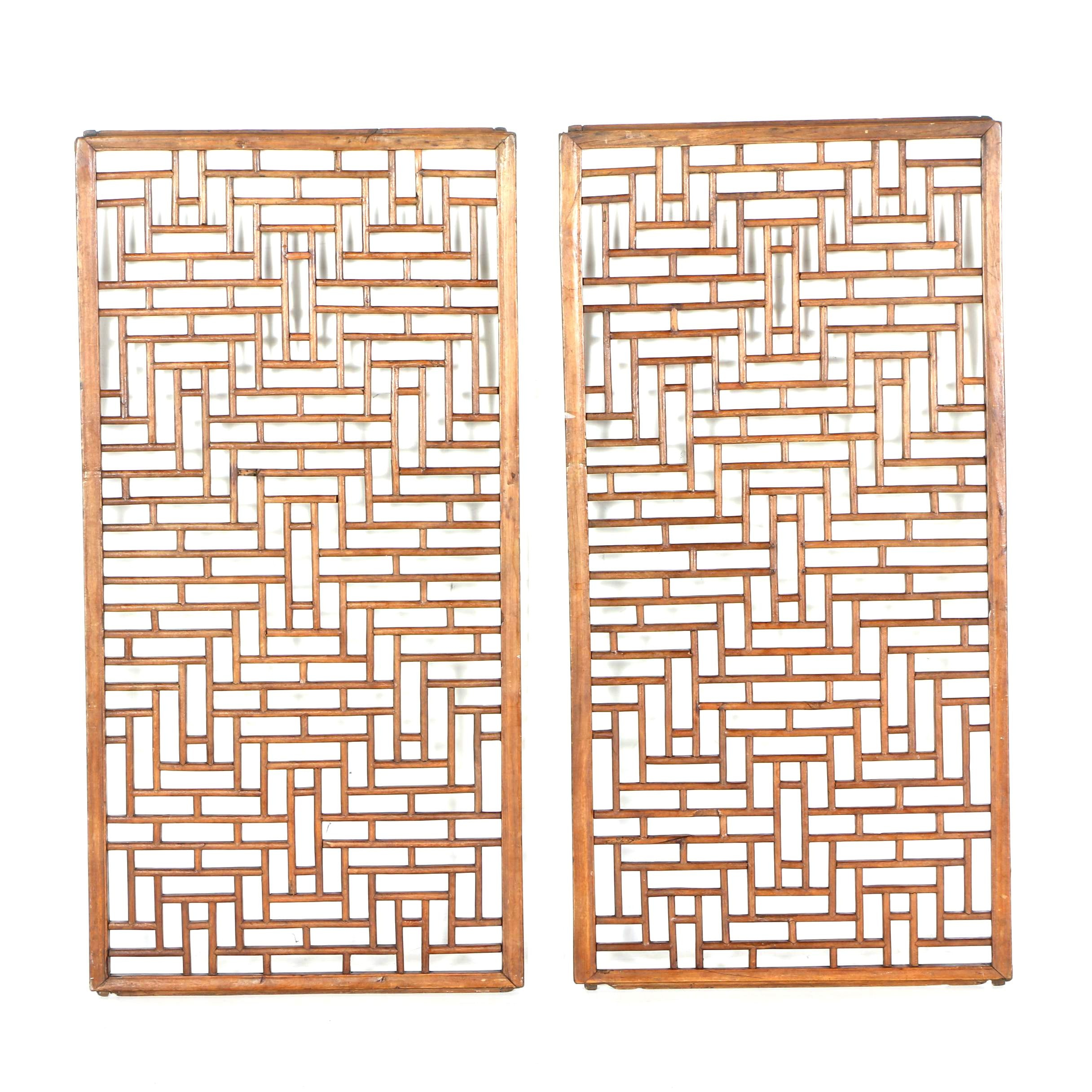Two Arts and Crafts Style Sliding Panel Doors