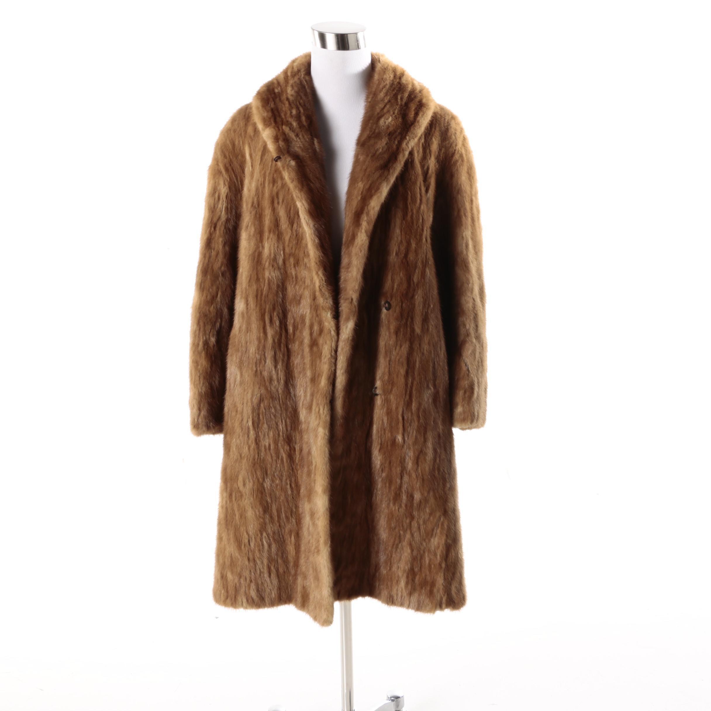 Vintage Pastel Mink Fur Coat
