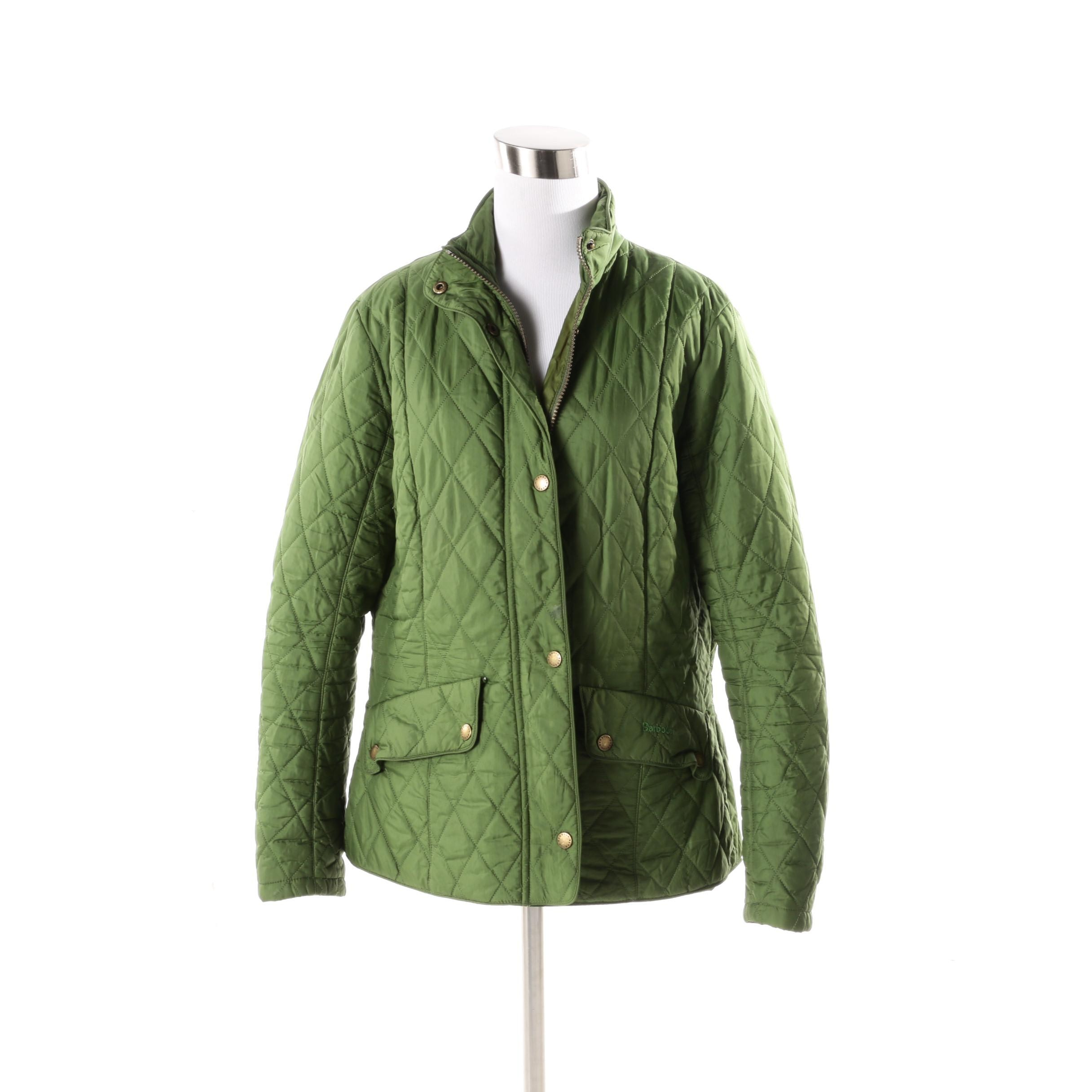 Women's Barbour Green Quilted Jacket
