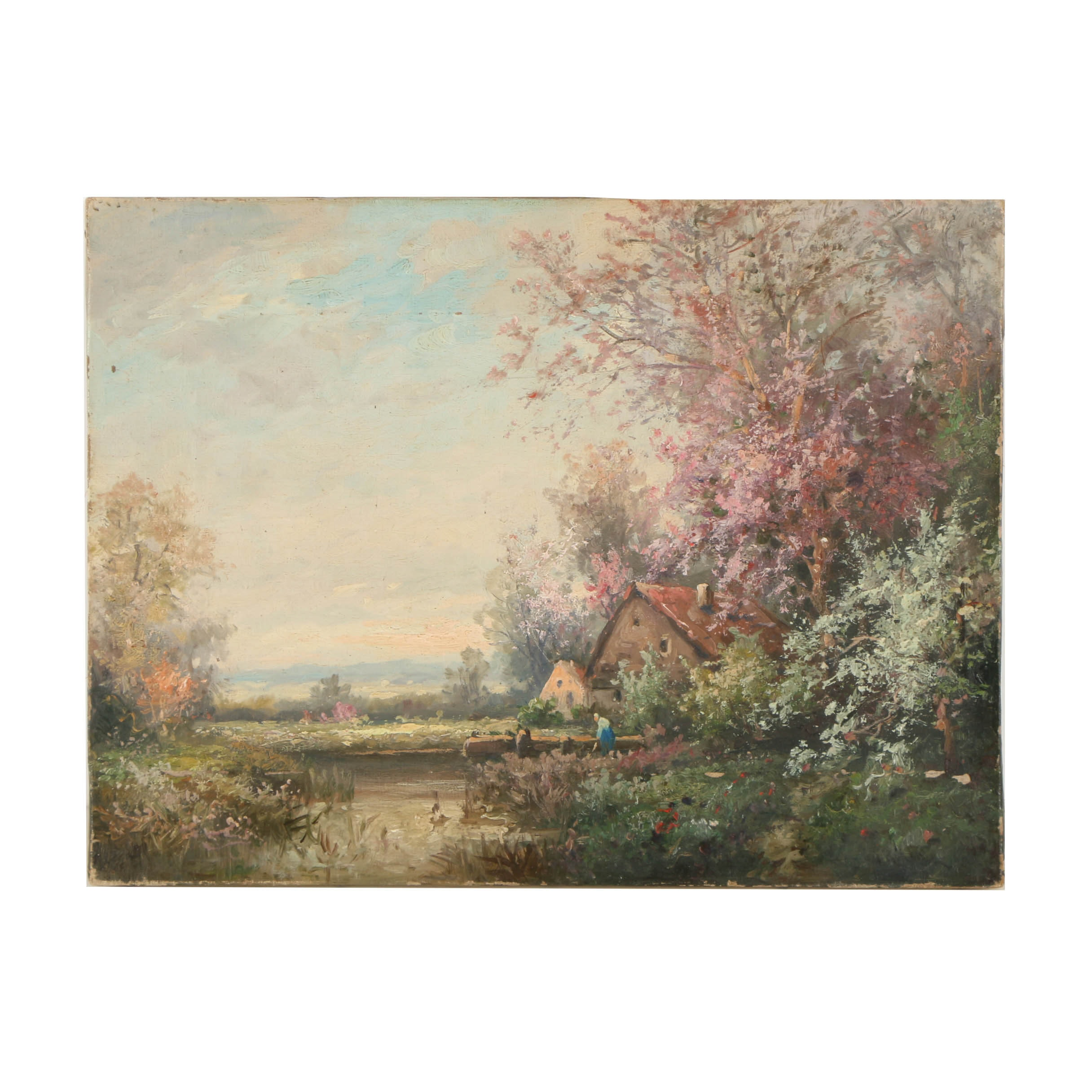 Oil Painting on Canvas of a Rural Landscape