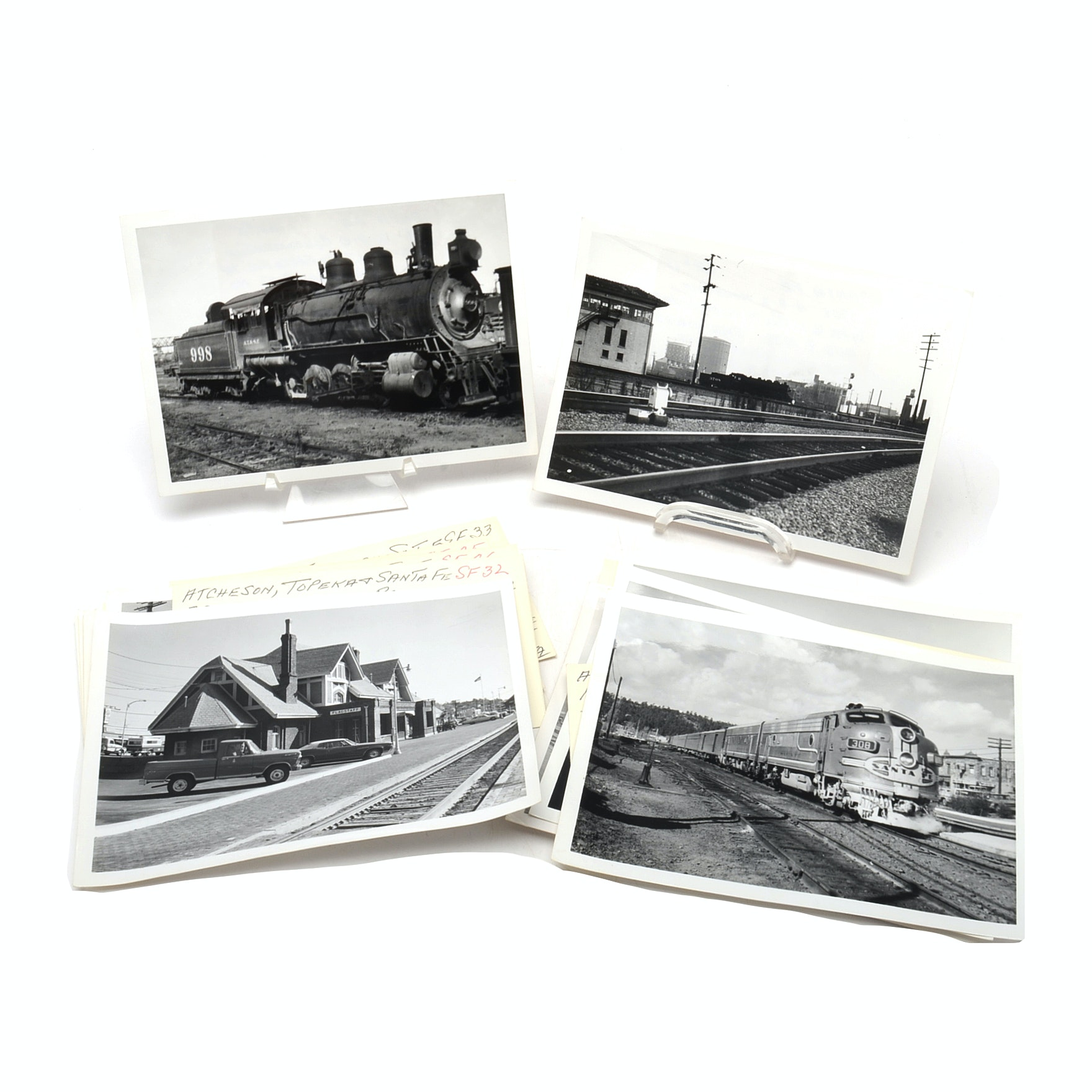 Collection of Atchison Topeka and Santa Railroad Photographs from 1930s