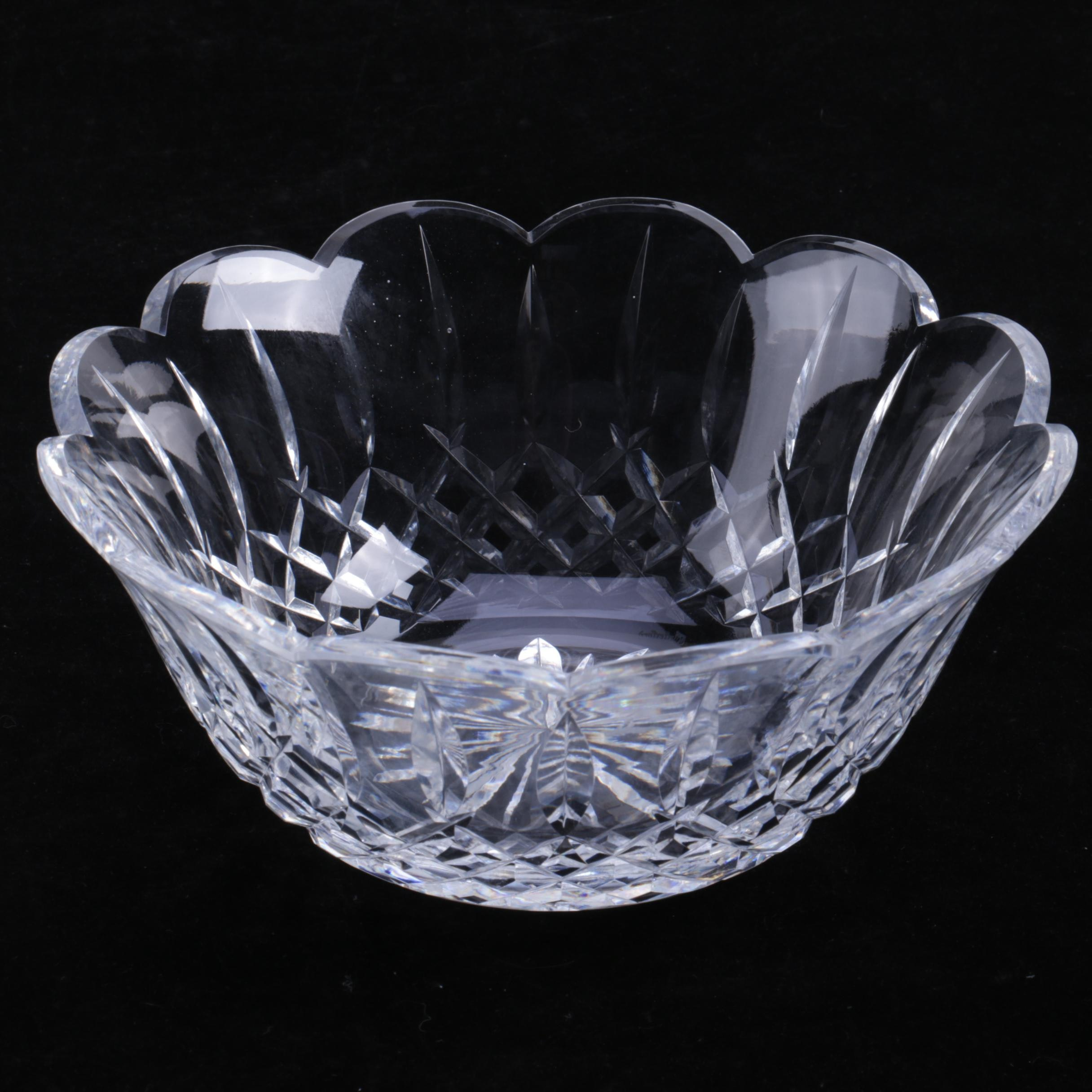 "Waterford Crystal ""Lismore"" Scalloped Bowl"