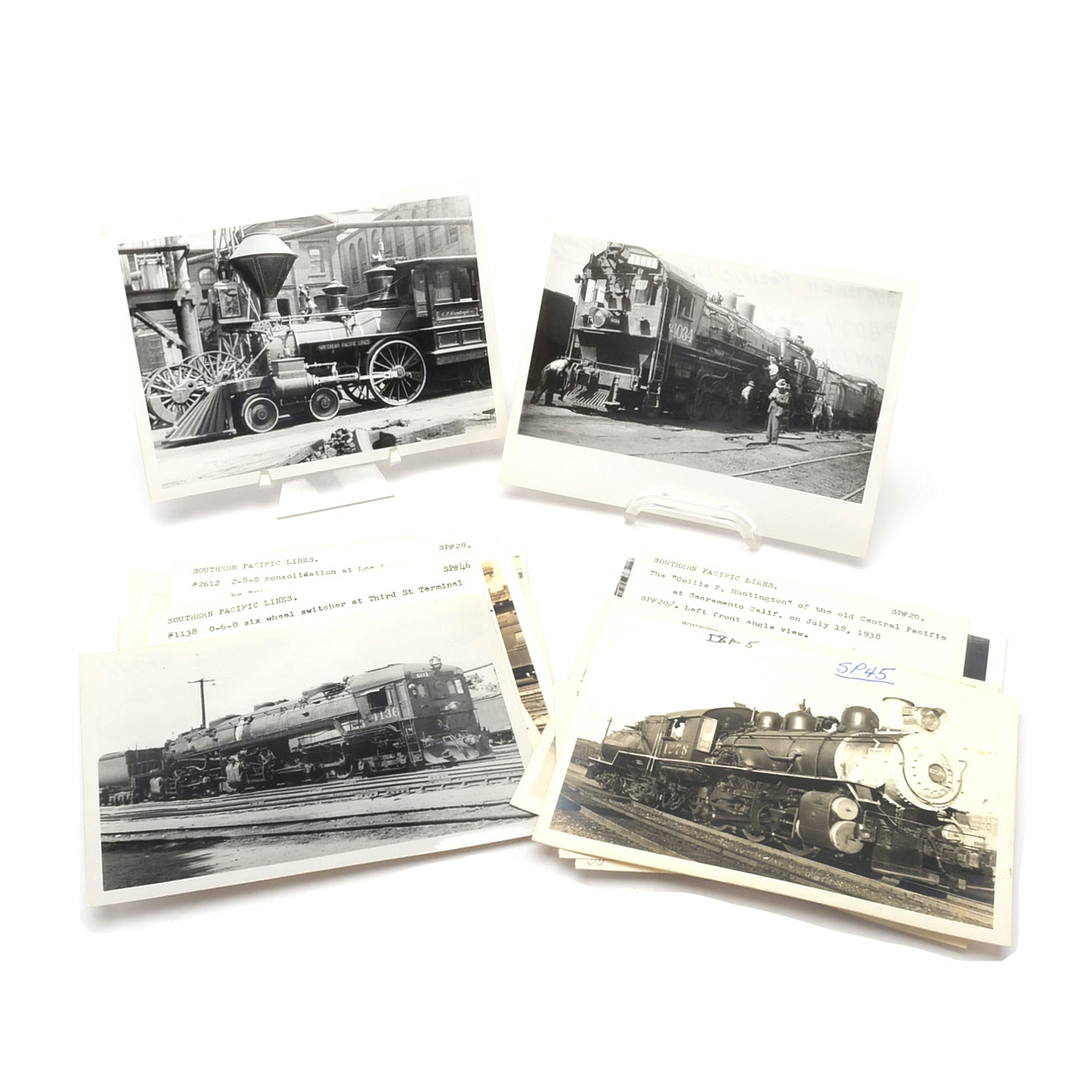 Collection of Southern Pacific Lines Railroad Photographs from 1930s