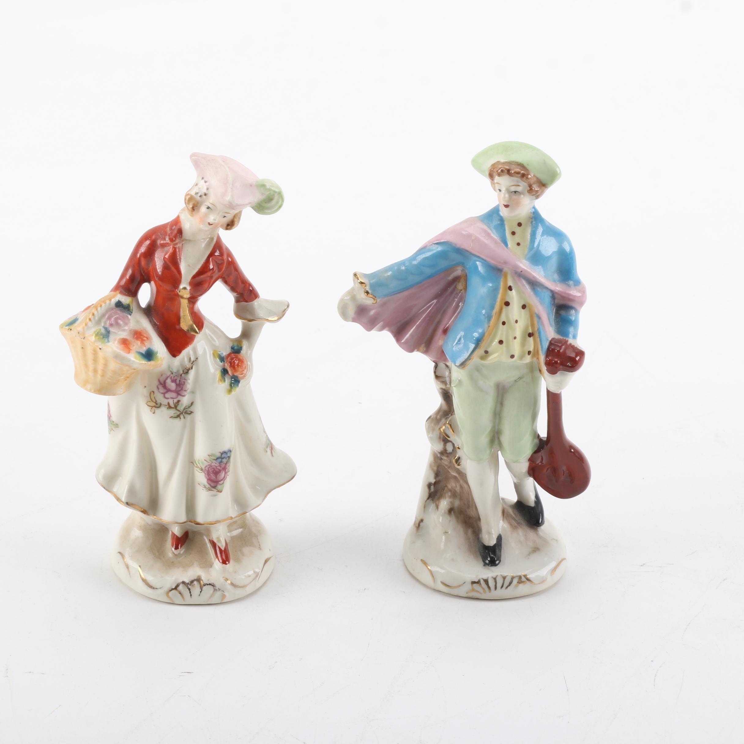 Vintage Porcelain Figurines Made in Occupied Japan