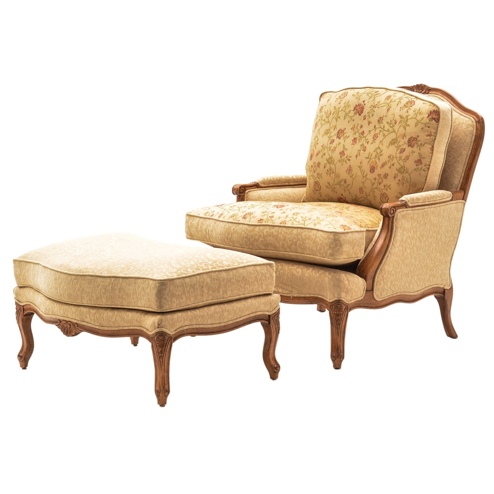 House of France Armchair with Ottoman